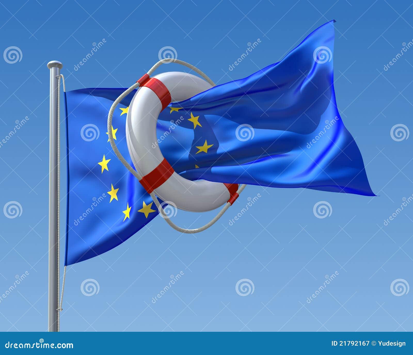 Concepto de la crisis de la UE