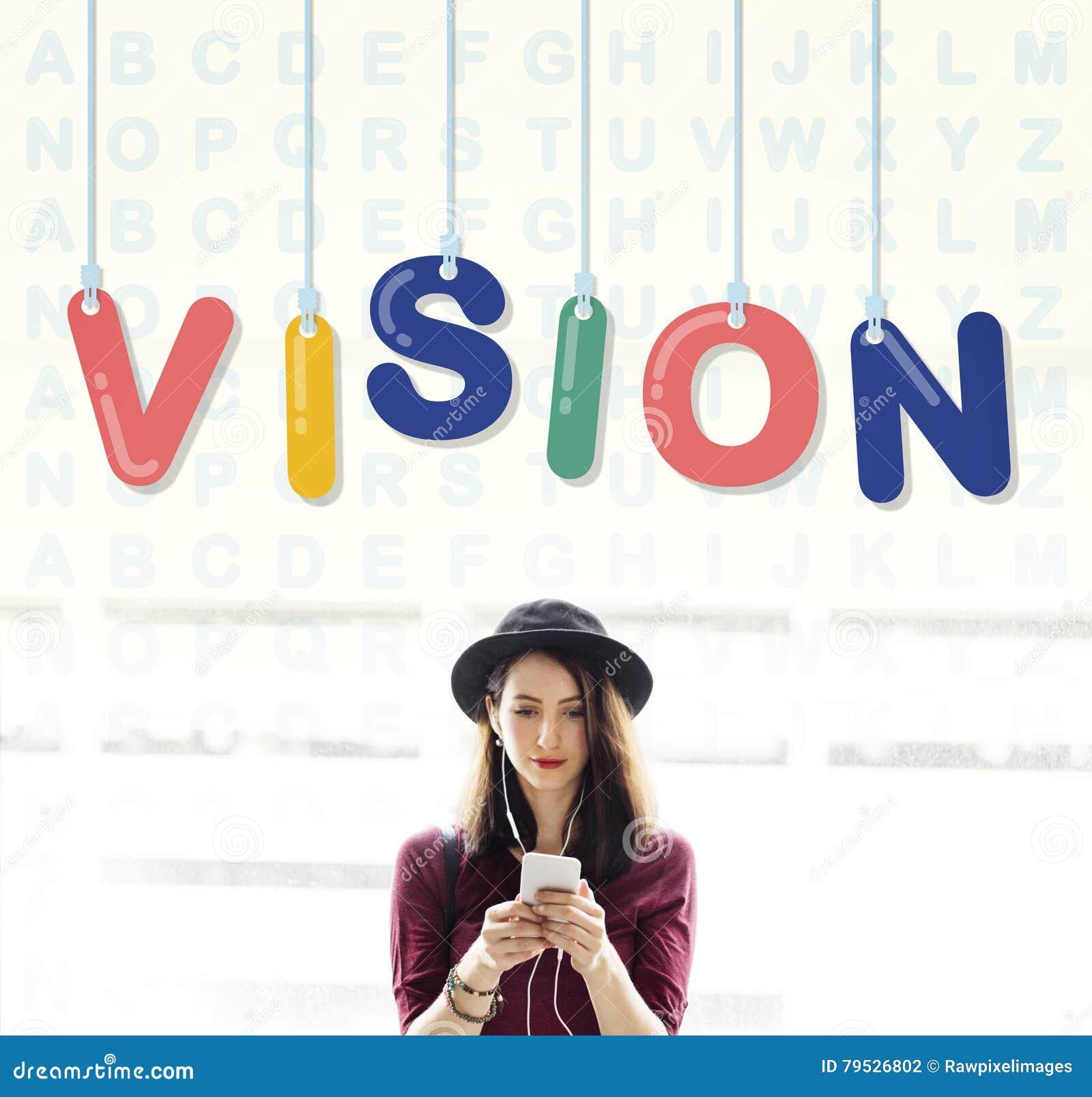 Concepto de la dirección de la aspiración de la motivación de la inspiración de Vision