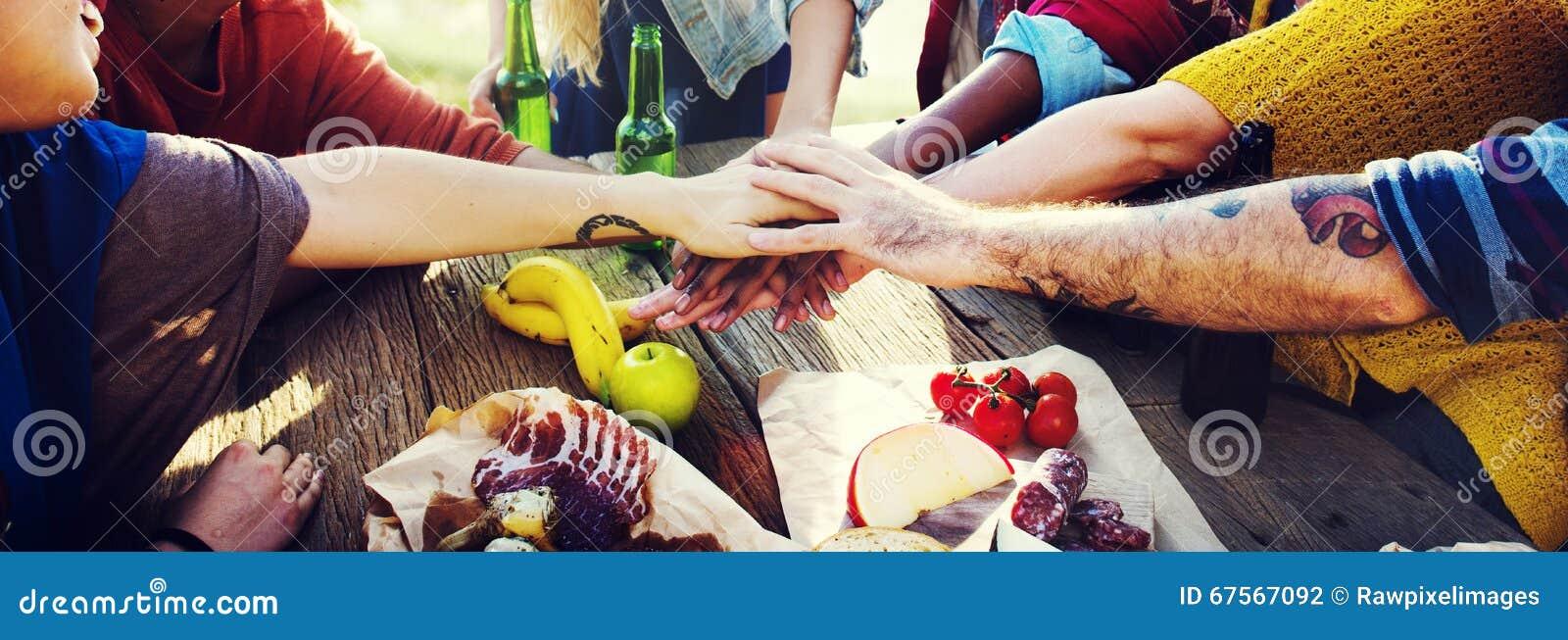 Concepto de la diversión de Team Friendship Leisure Vacation Togetherness