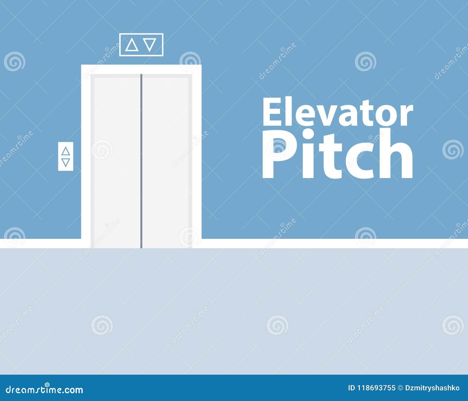 Concepto de la echada del elevador