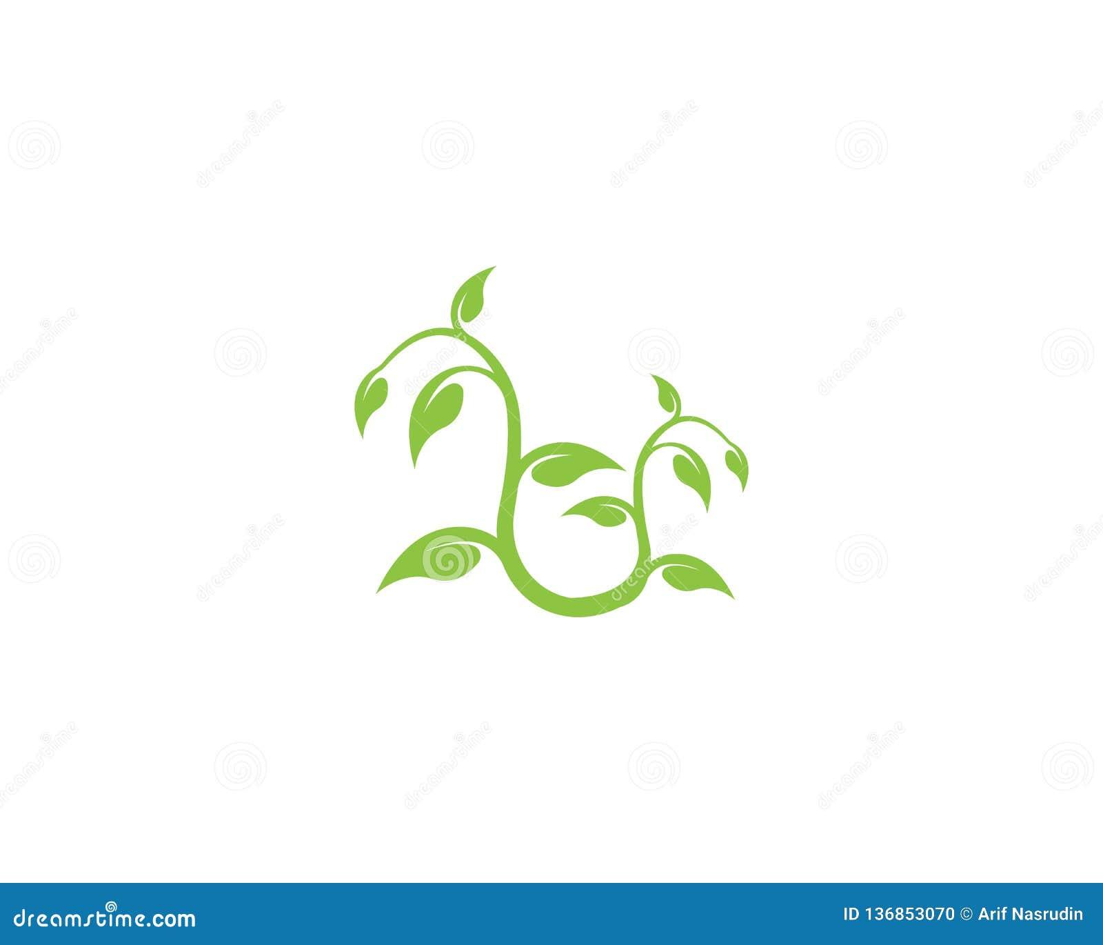 Concepto de la ecología del diseño del logotipo del vector de la hoja del árbol