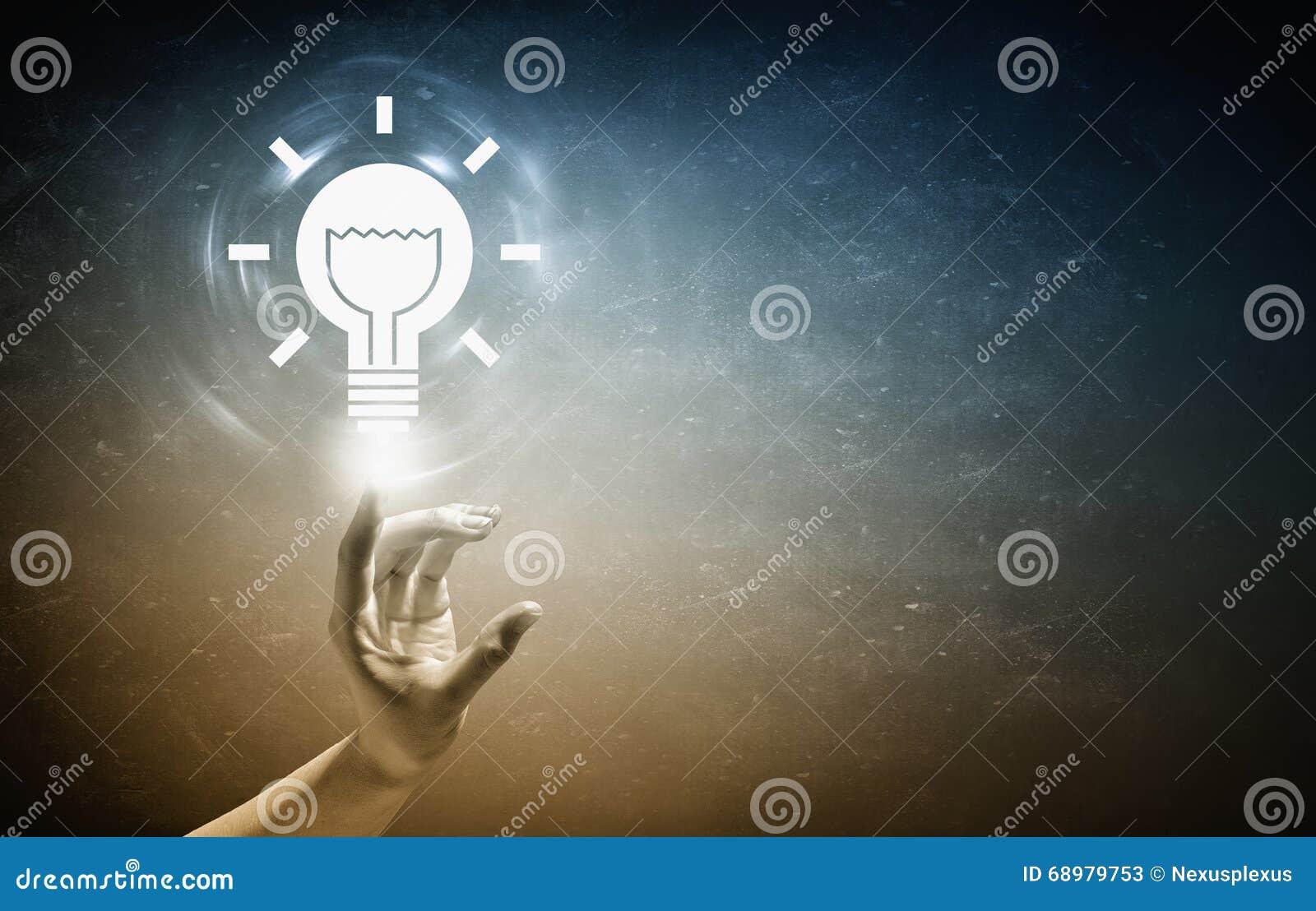 Concepto de la energía del ahorro