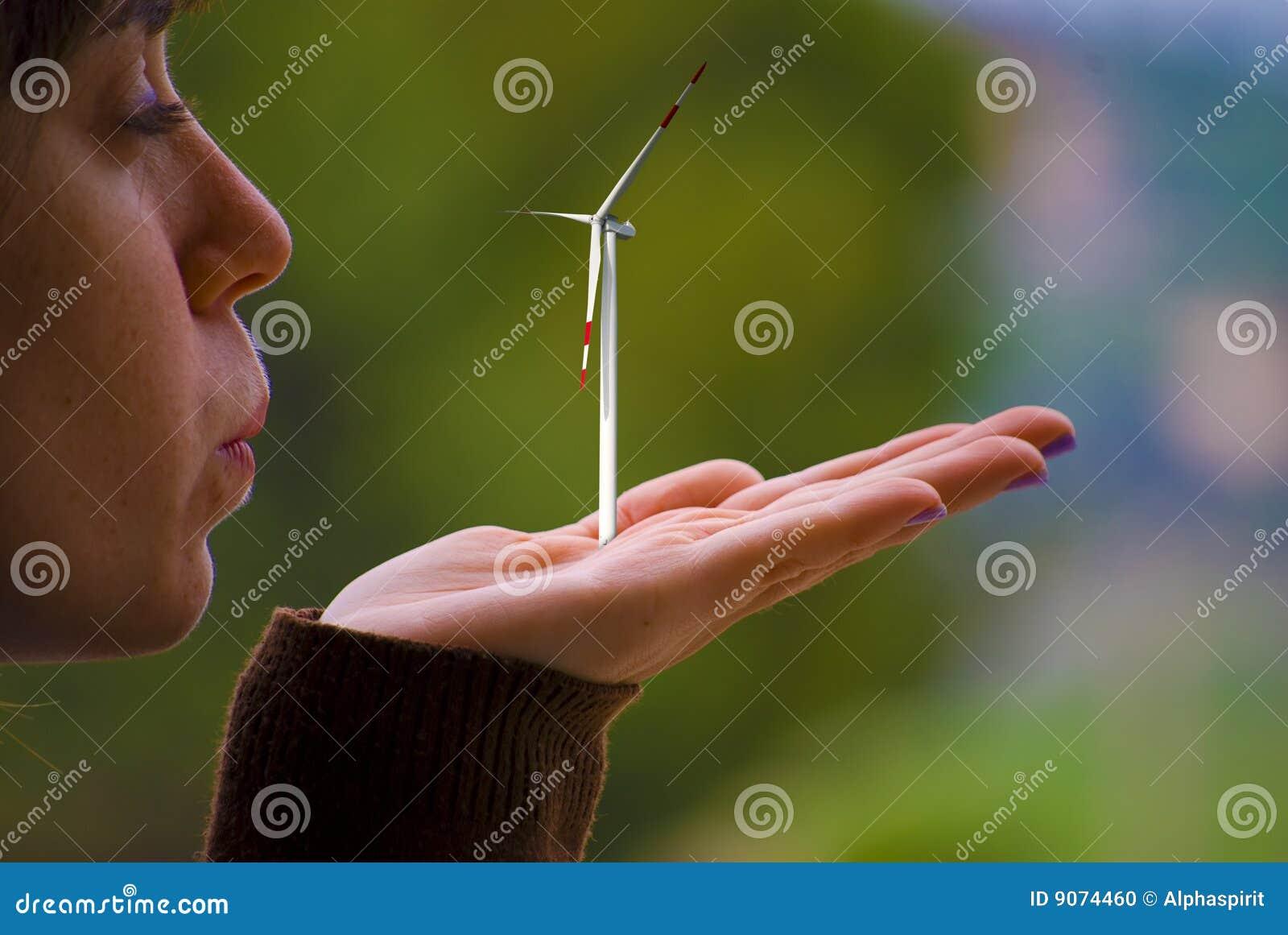 Concepto de la energía limpia