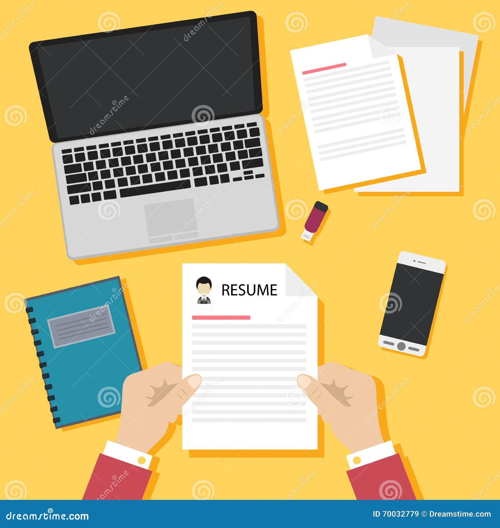 Concepto De La Entrevista De Trabajo Con El Curriculum Vitae Del ...