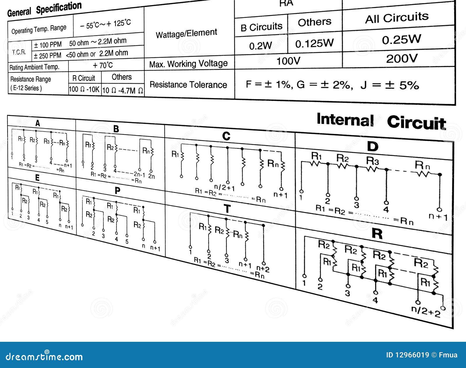 Circuito General : Concepto de la especificación del circuito en blanco stock de
