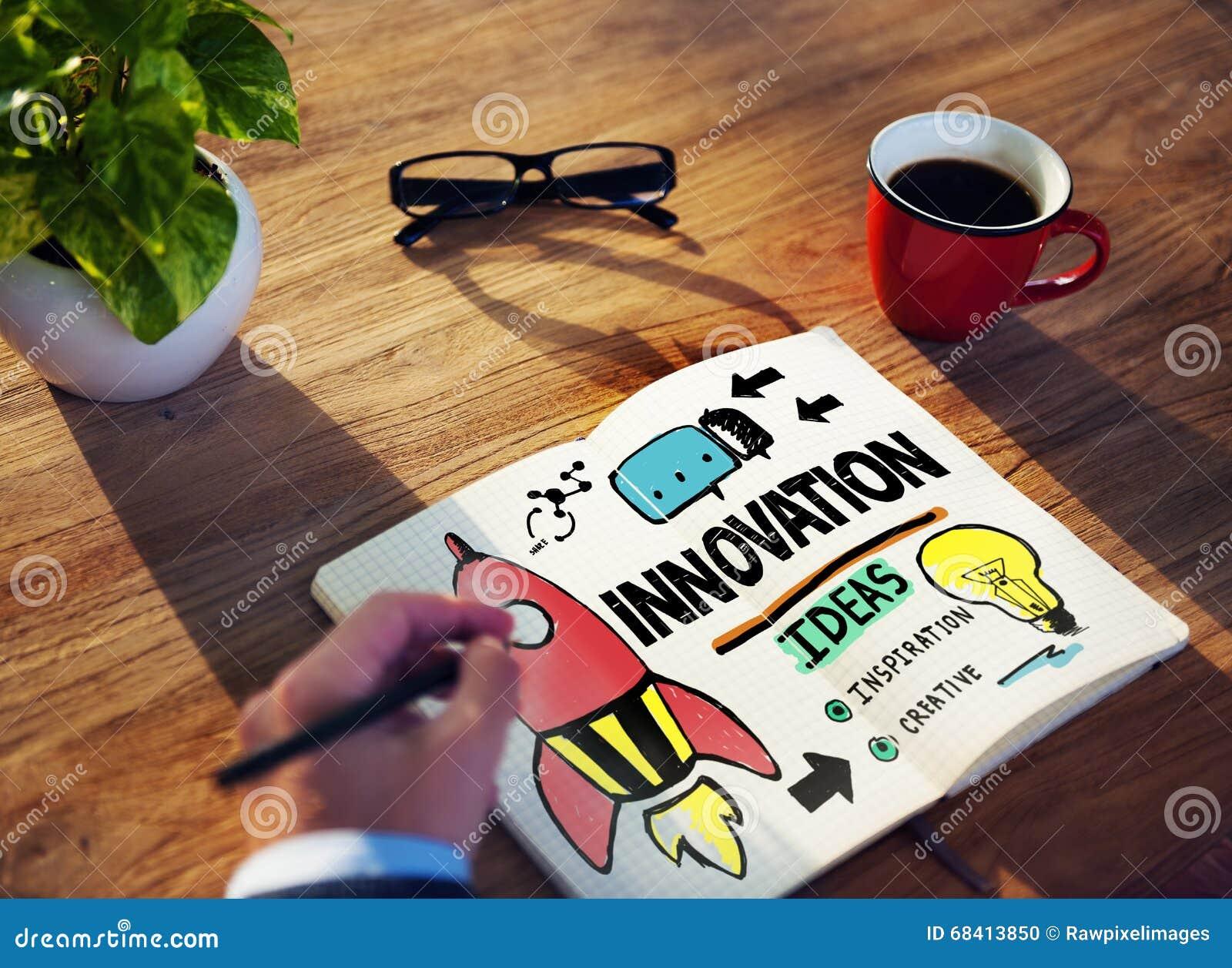 Concepto de la estrategia de la misión de la creatividad del plan empresarial de la innovación