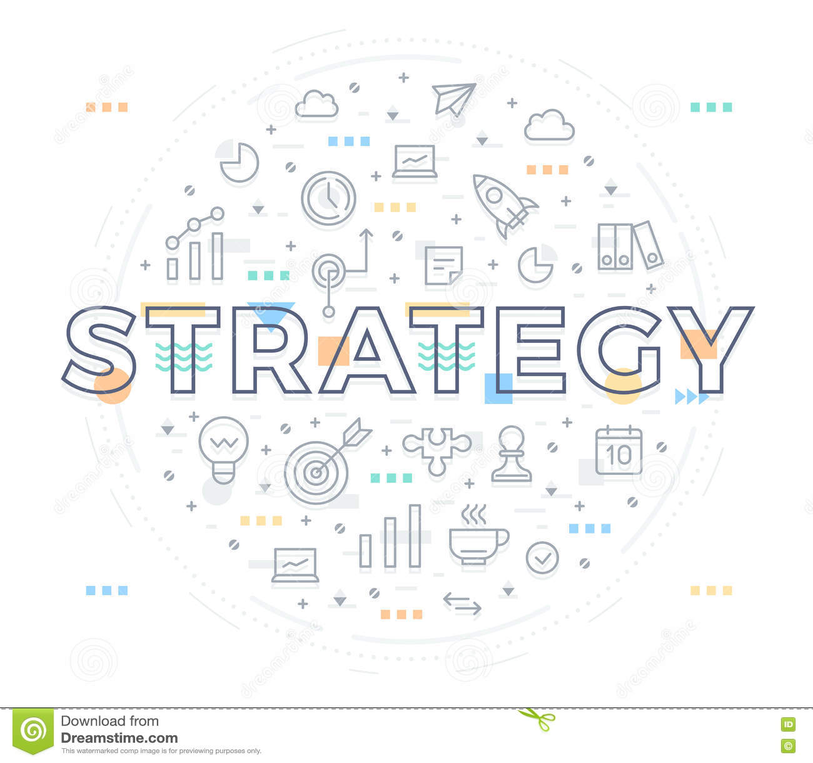 Concepto de la estrategia empresarial