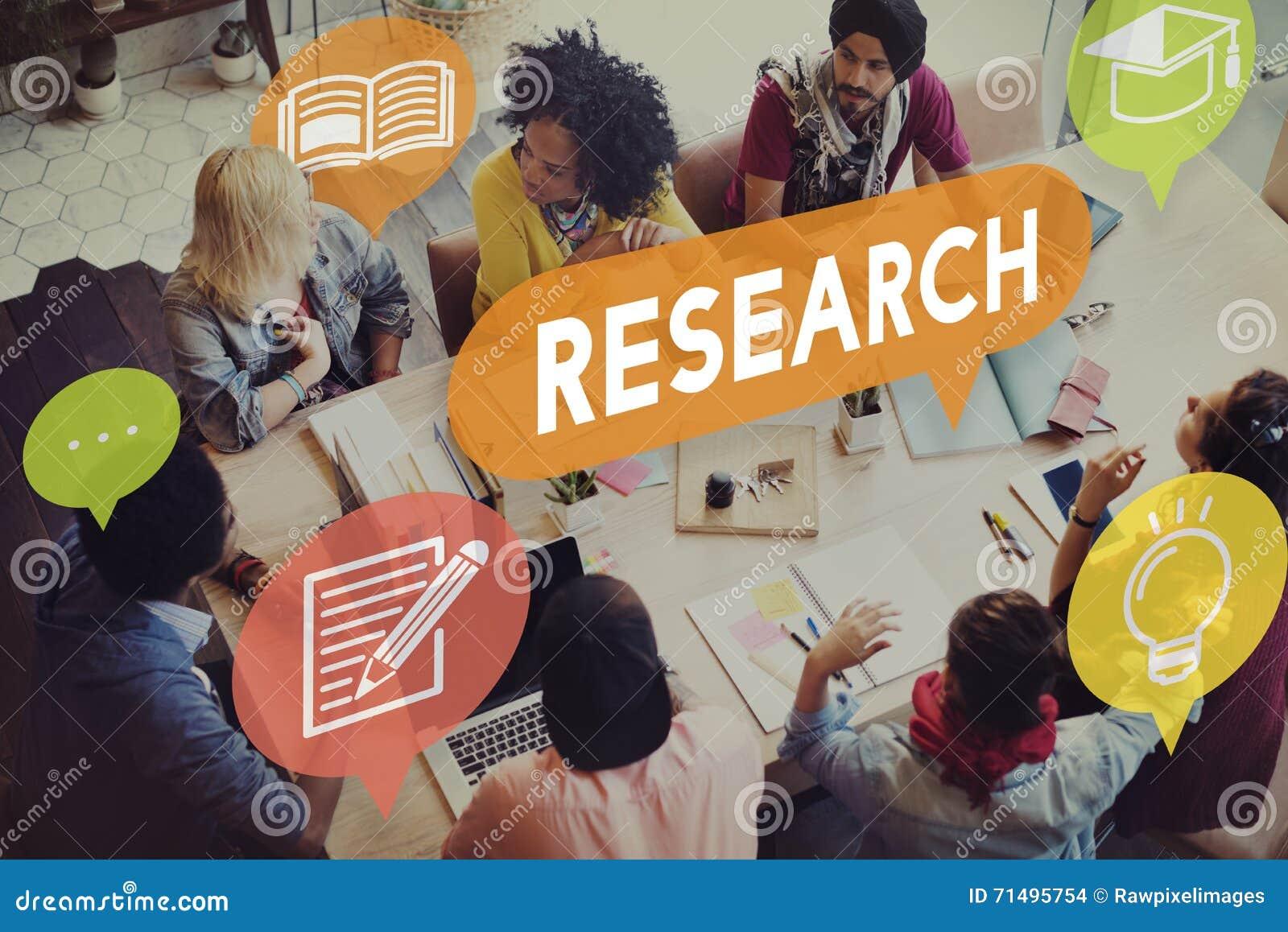 Concepto de la explicación del conocimiento de la reacción de la investigación