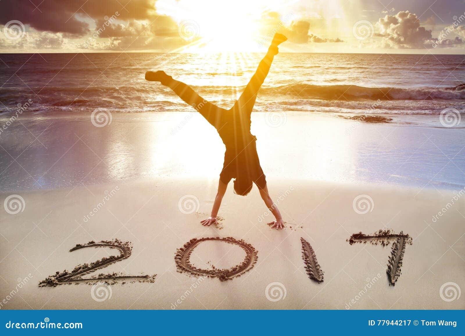 Concepto 2017 de la Feliz Año Nuevo