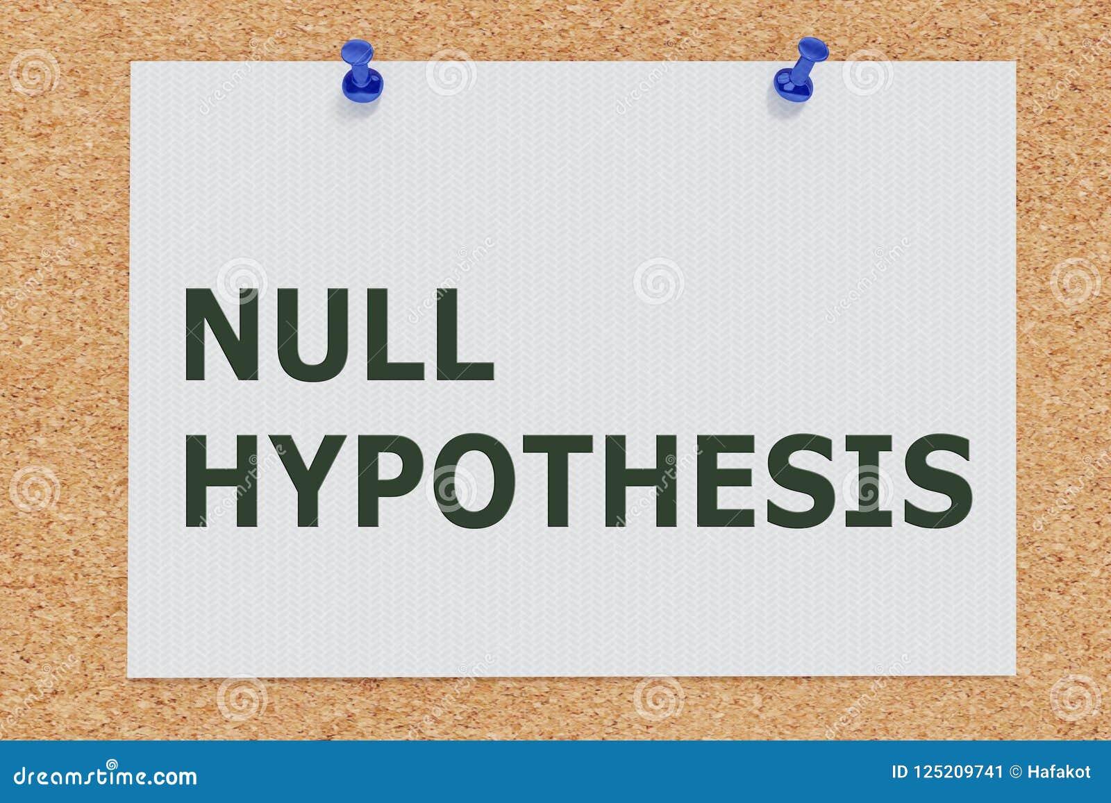 Concepto de la HIPÓTESIS NULA