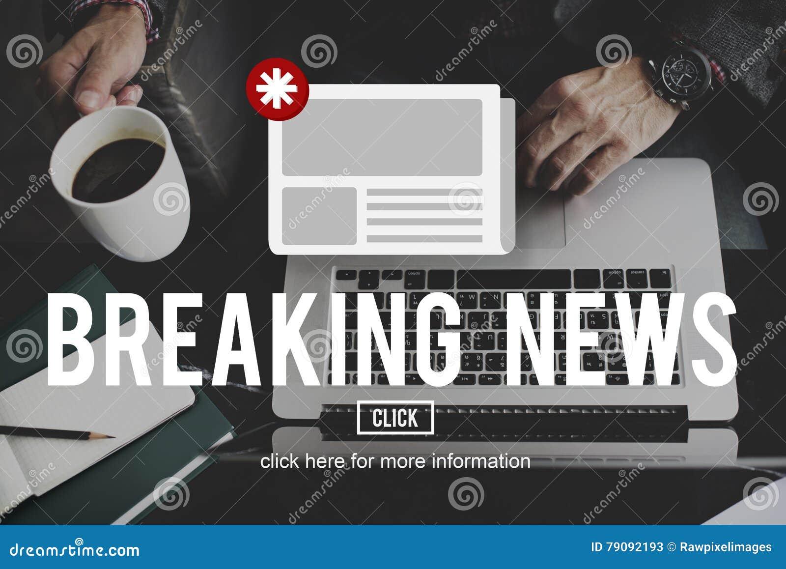 Concepto de la información de la actualización del aviso del hoja informativa de las noticias