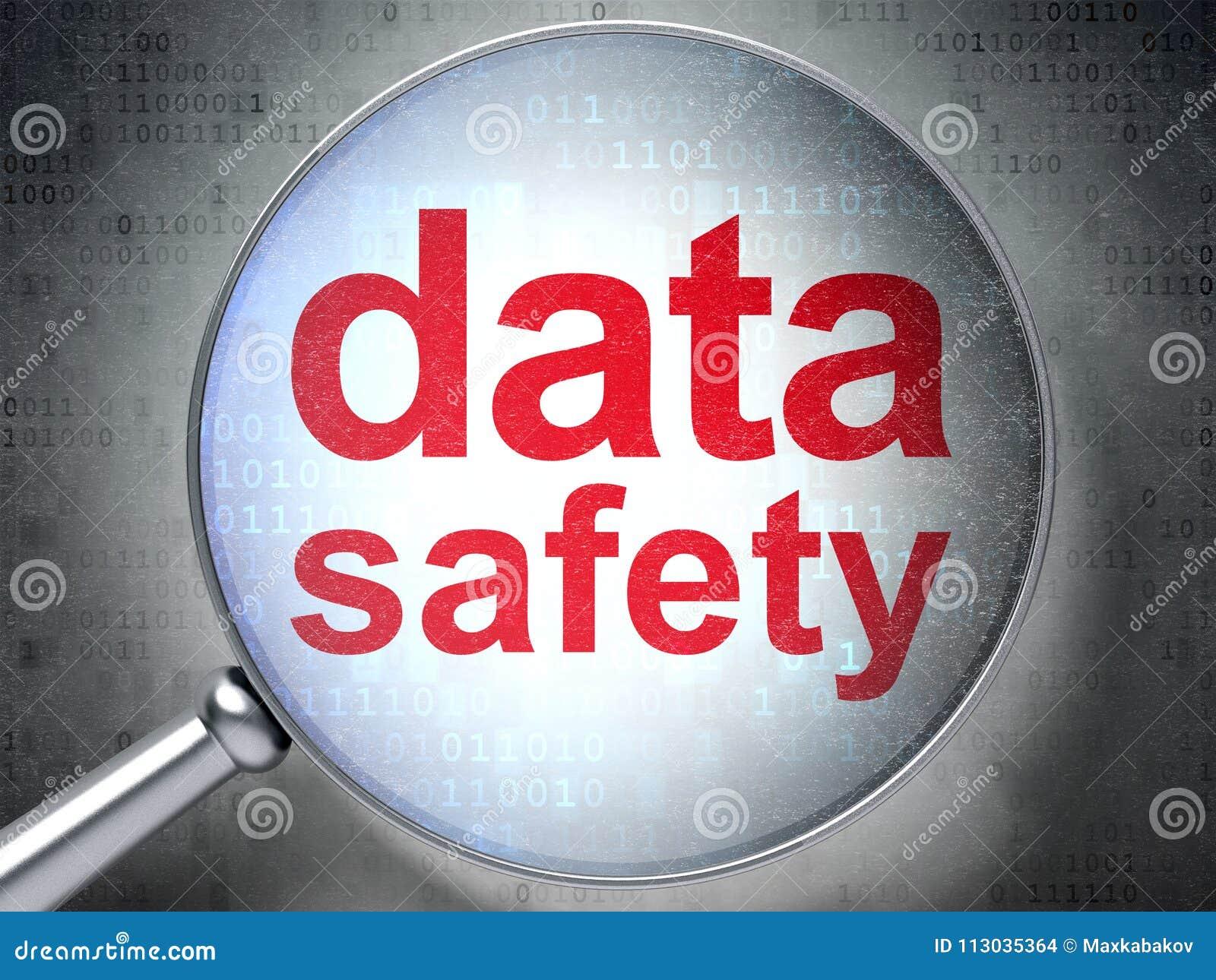 Concepto de la información: Seguridad de los datos con el vidrio óptico