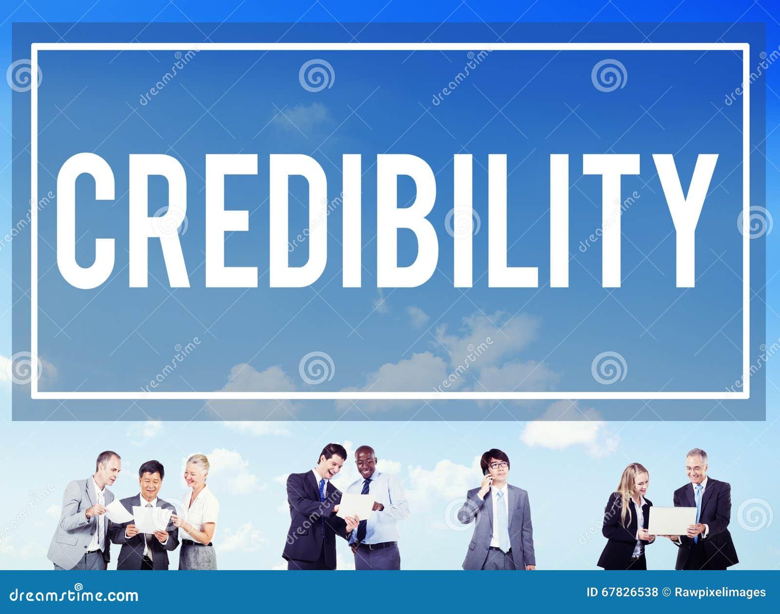 Concepto de la inspiración de la determinación de la sociedad de la credibilidad