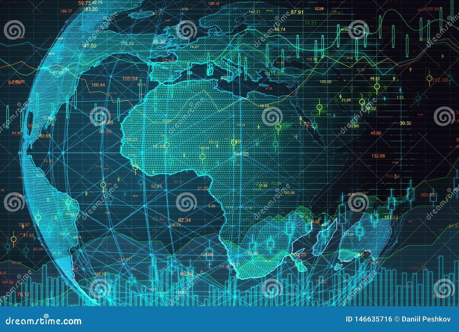 Concepto de la inteligencia artificial y de las finanzas