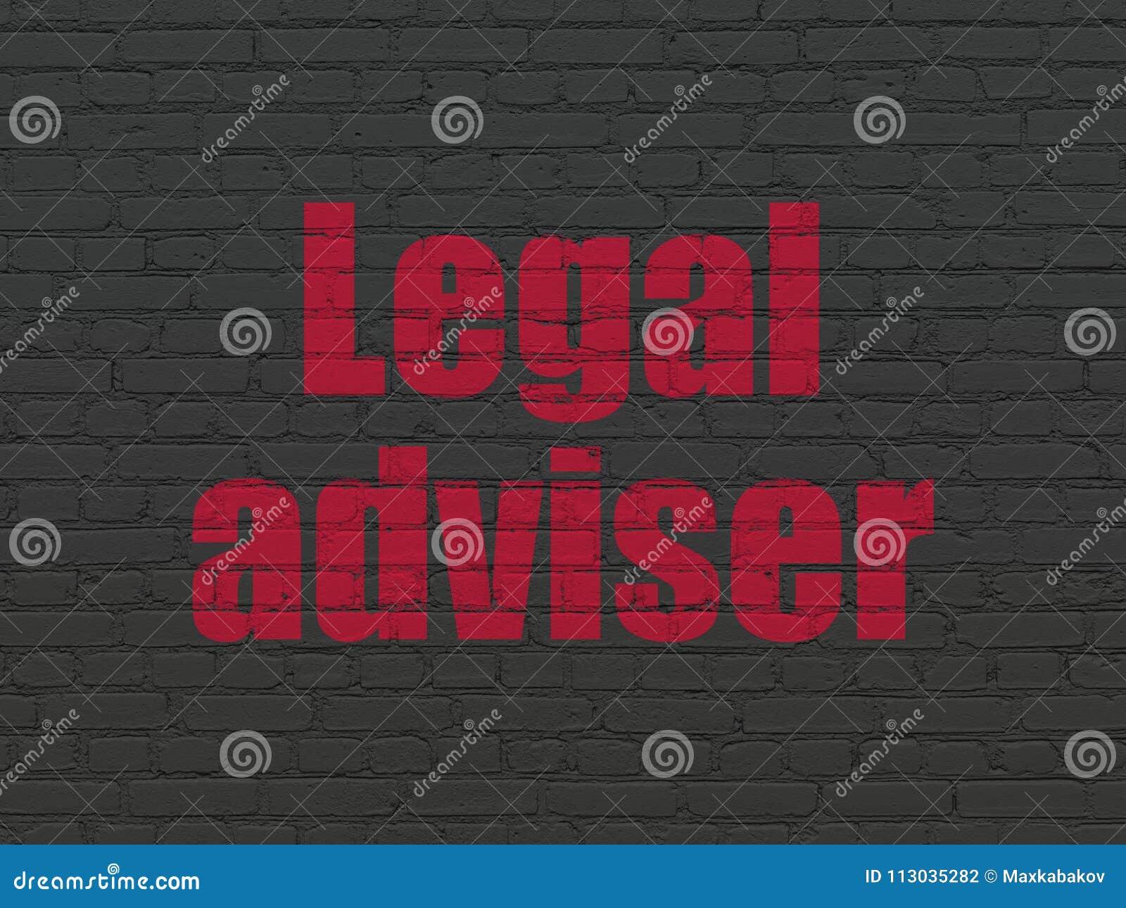 Concepto de la ley: Asesor jurídico en fondo de la pared
