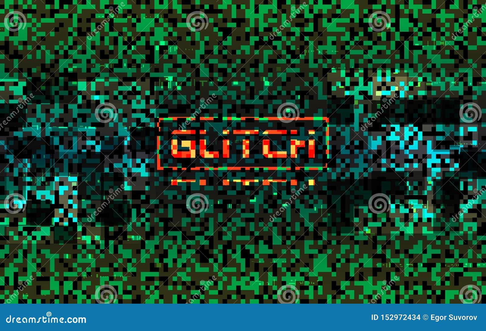 Concepto de la matriz de la interferencia Composición verde del pixel con distorsiones del color Visualización del error de datos