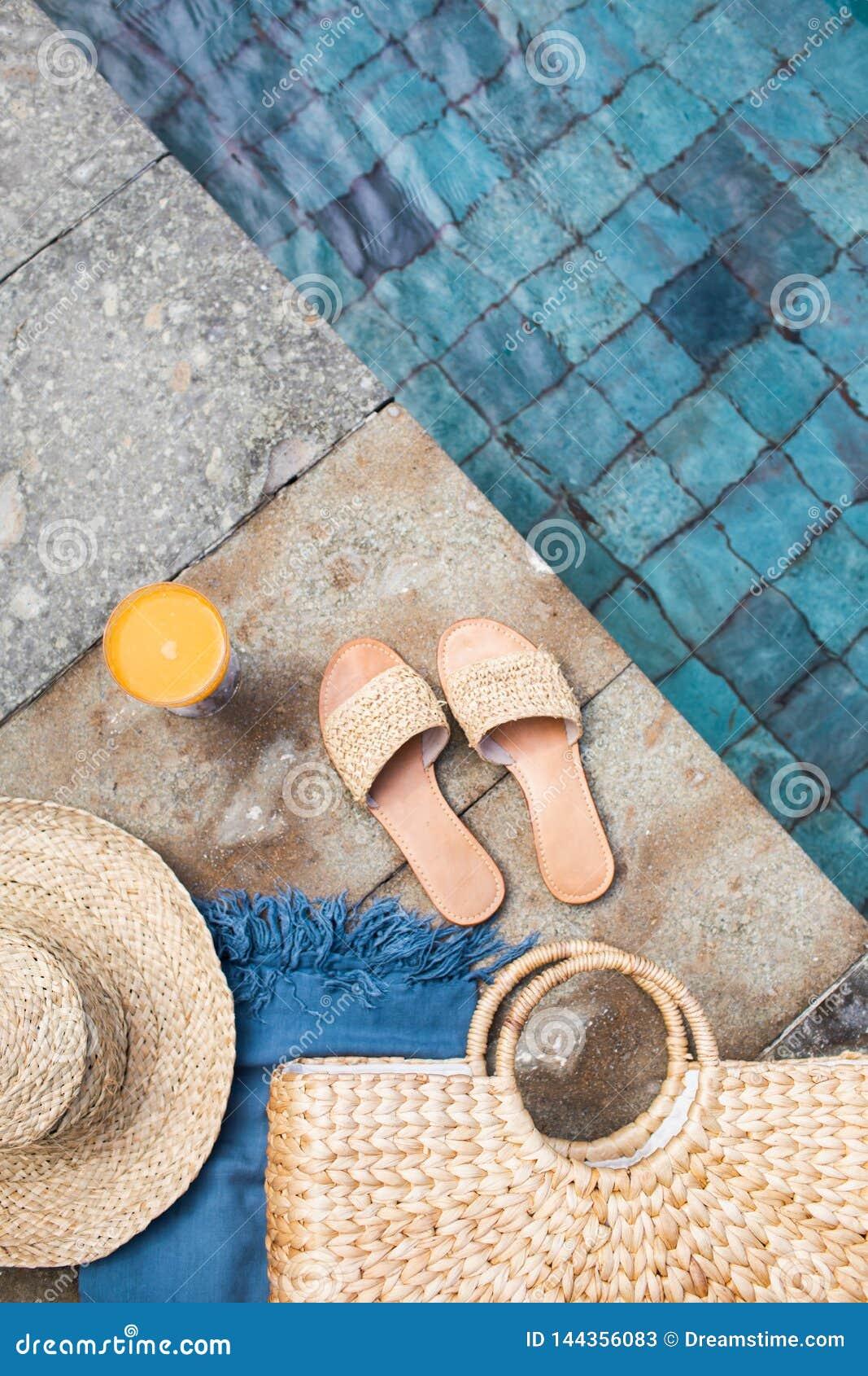 Concepto de la moda de las vacaciones de verano