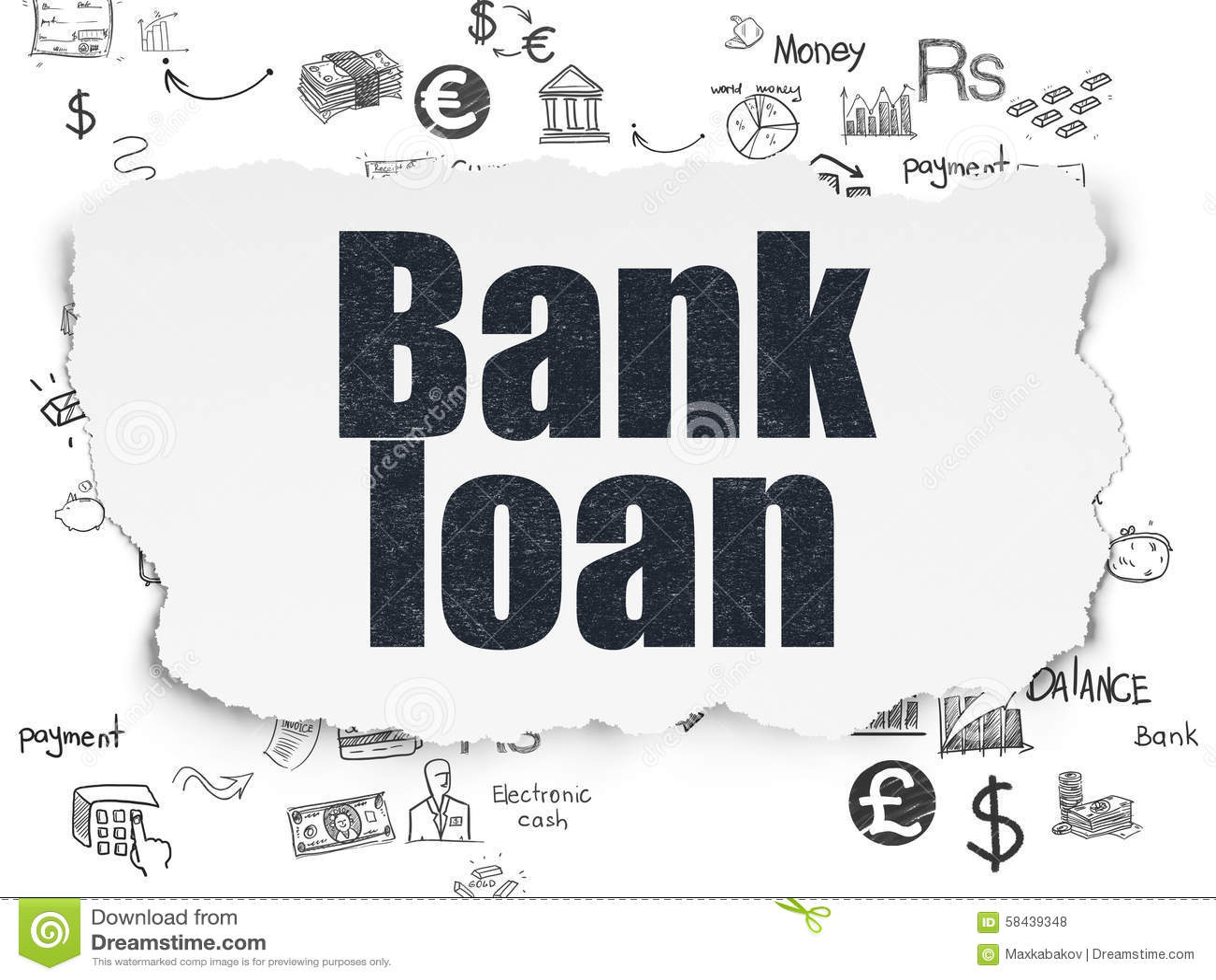 Concepto de la moneda: Crédito bancario en el papel rasgado
