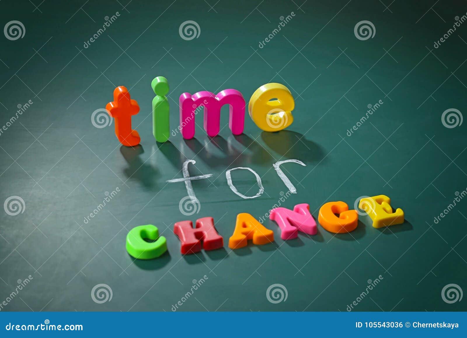 Concepto De La Motivación Tiempo De La Frase Para El Cambio