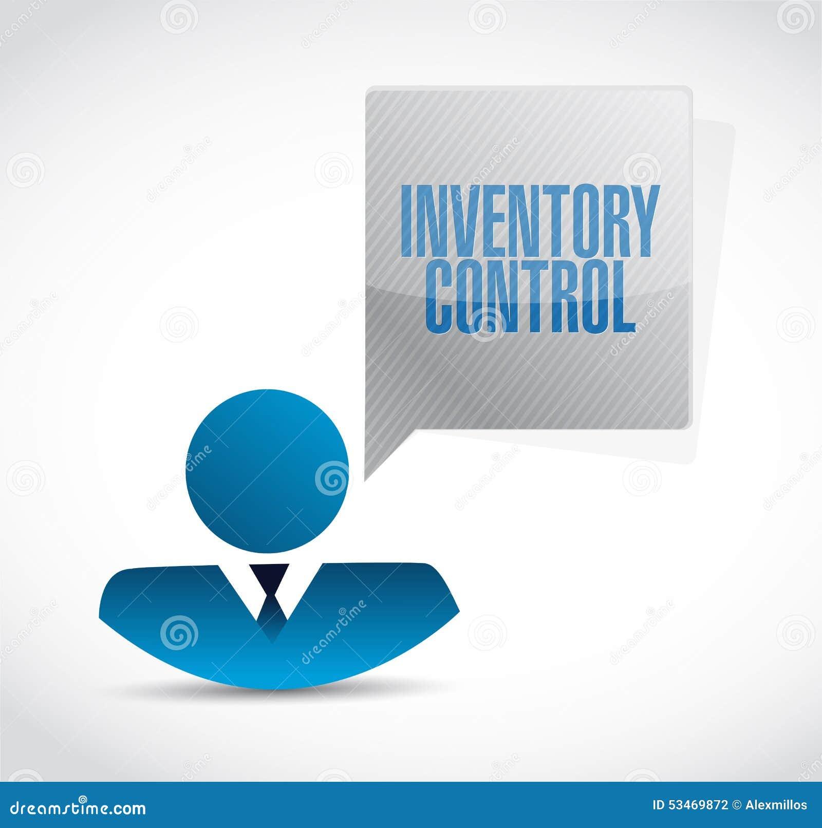 Concepto de la muestra del avatar del icono del control de inventario