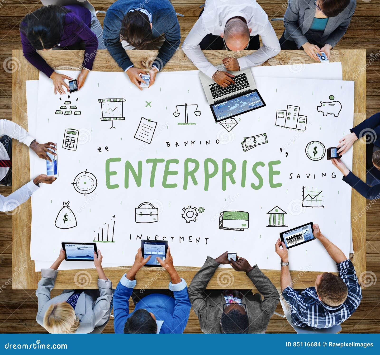 Concepto de la organización de la corporación de Enterprise Company