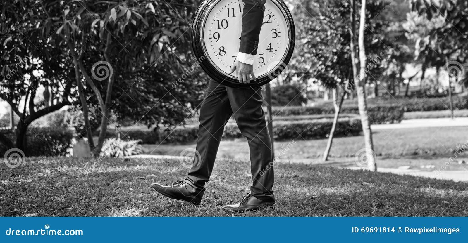 Concepto de la organización del horario de la gestión que mide el tiempo del tiempo