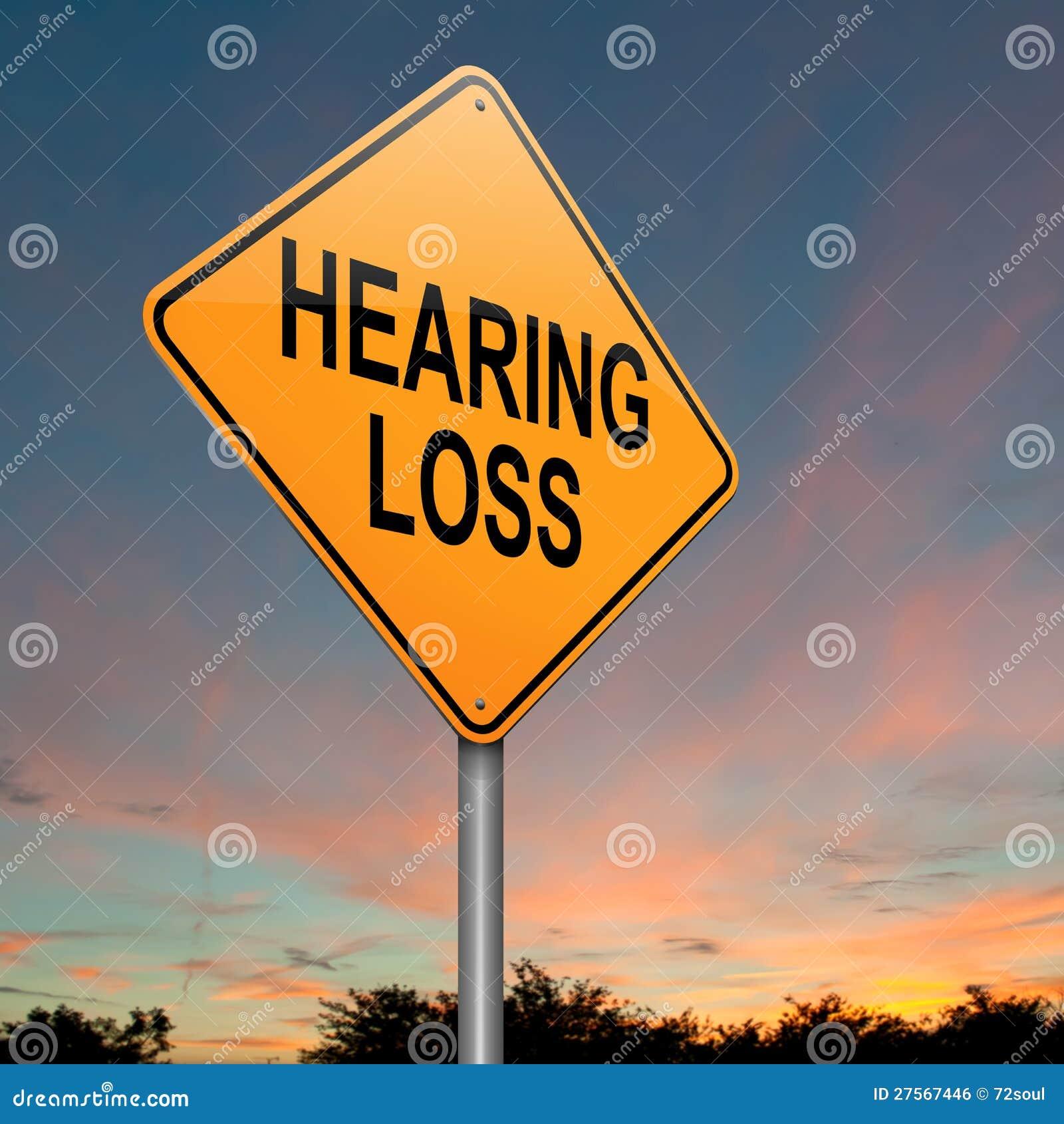 Concepto de la pérdida de oído.