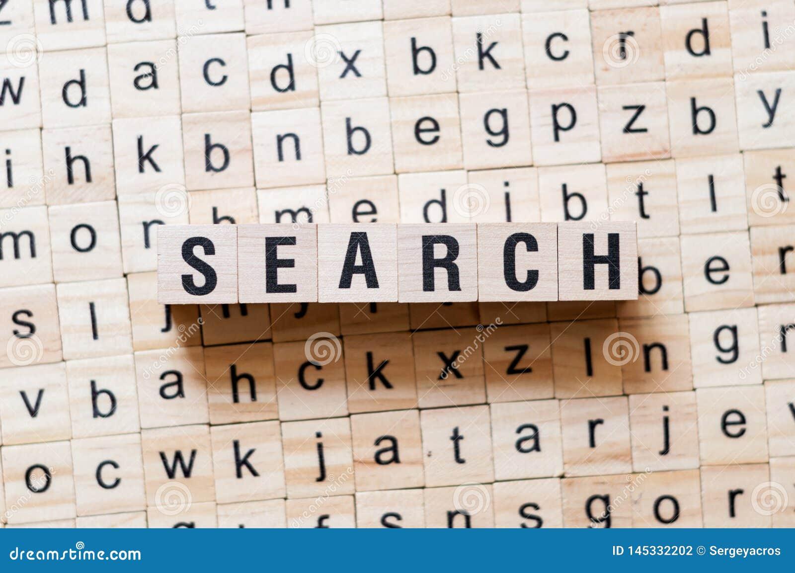 Concepto de la palabra de búsqueda