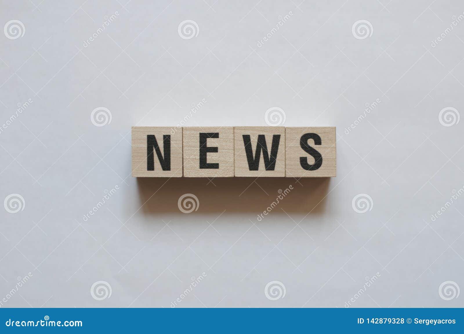 Concepto de la palabra de las noticias