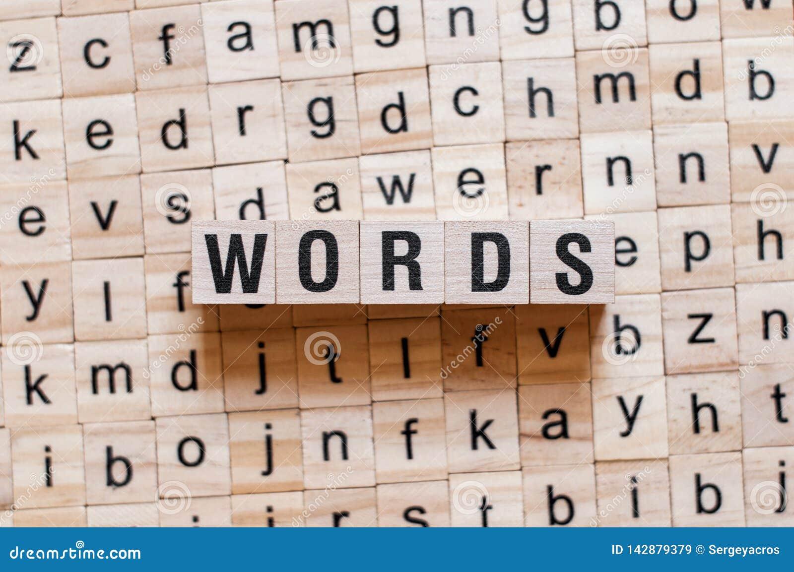 Concepto de la palabra de las palabras