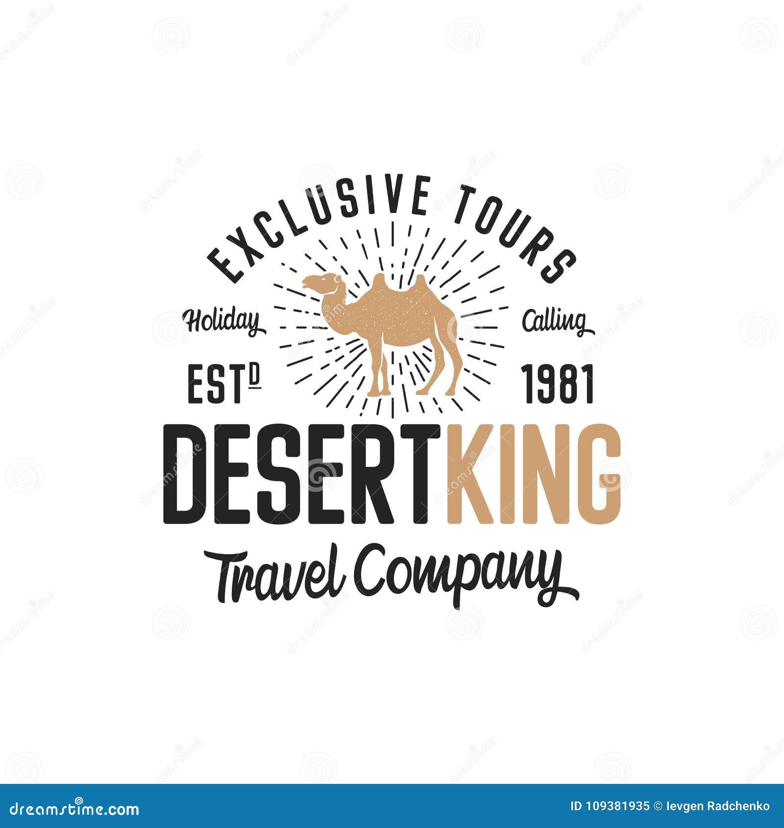 Concepto De La Plantilla Del Logotipo Del Camello Logotipo De La ...