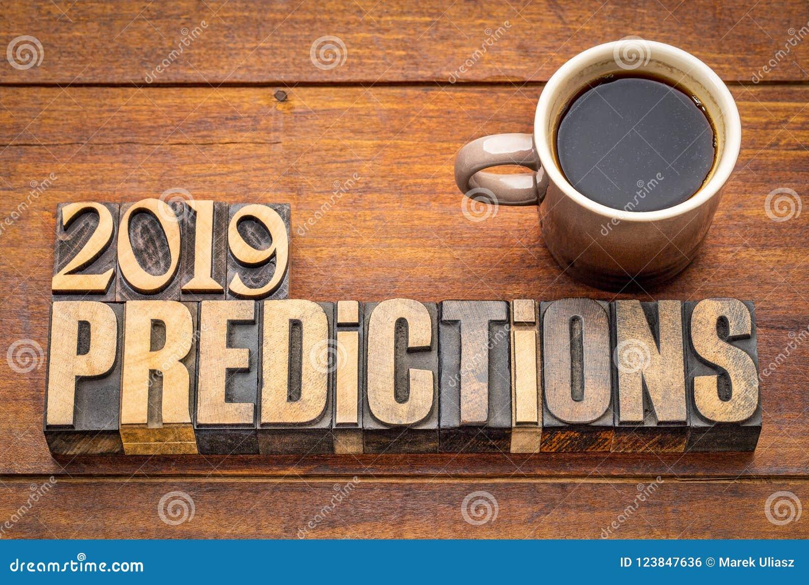 Concepto 2019 de la predicción