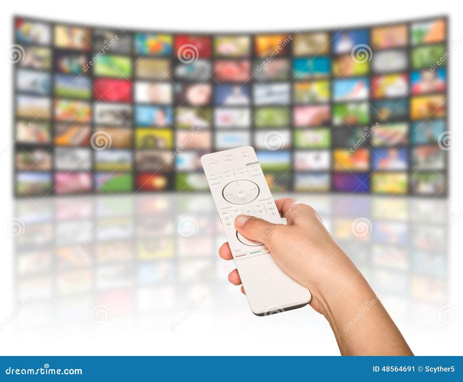 Concepto de la producción de la televisión Los paneles de la película de la TV