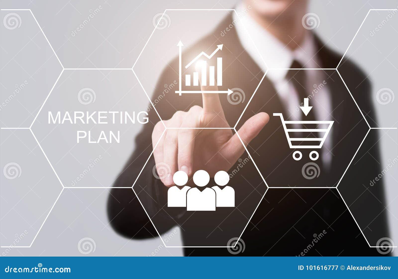Concepto de la promoción de la estrategia de la publicidad de negocio de plan de márketing