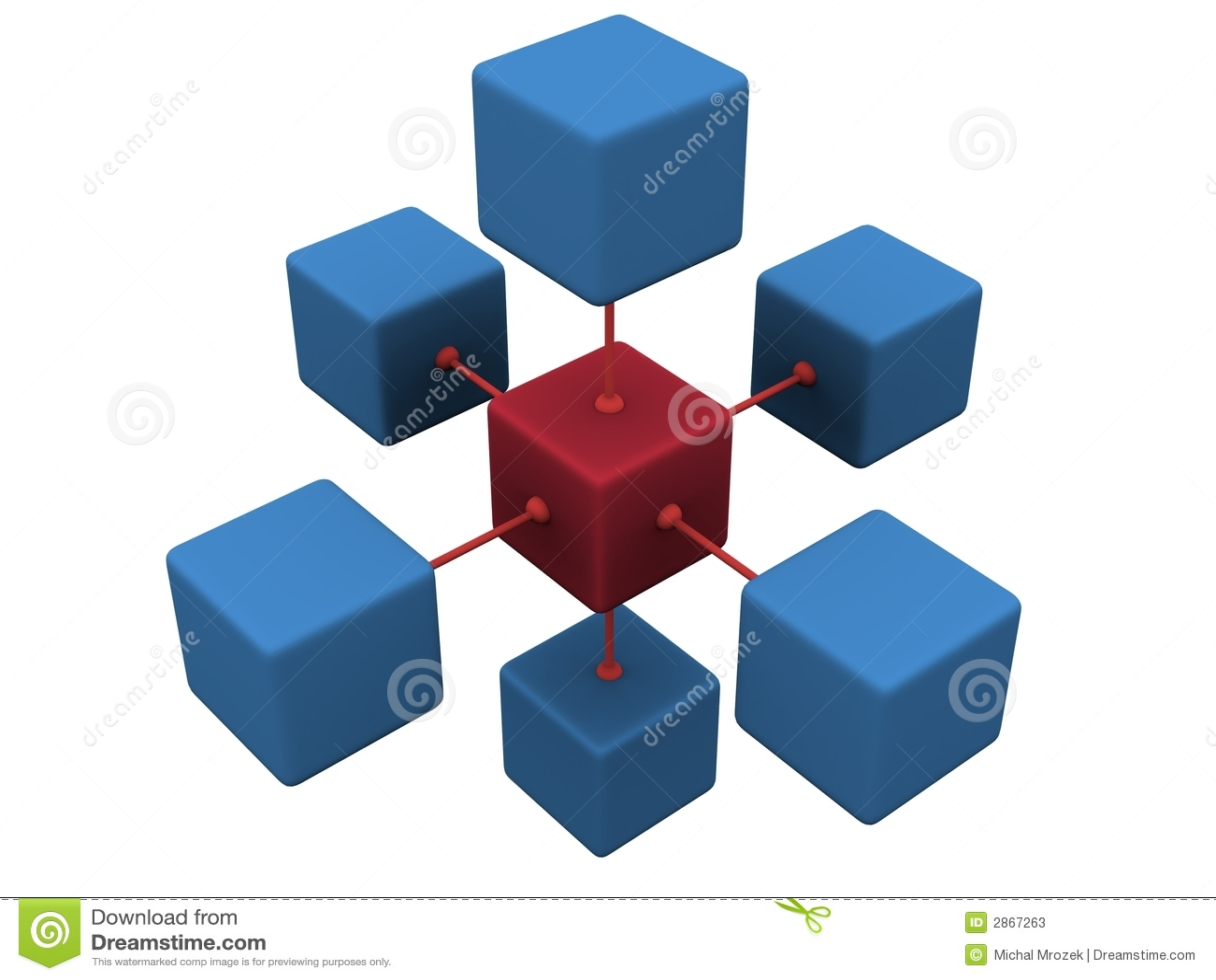 Concepto de la red 3D