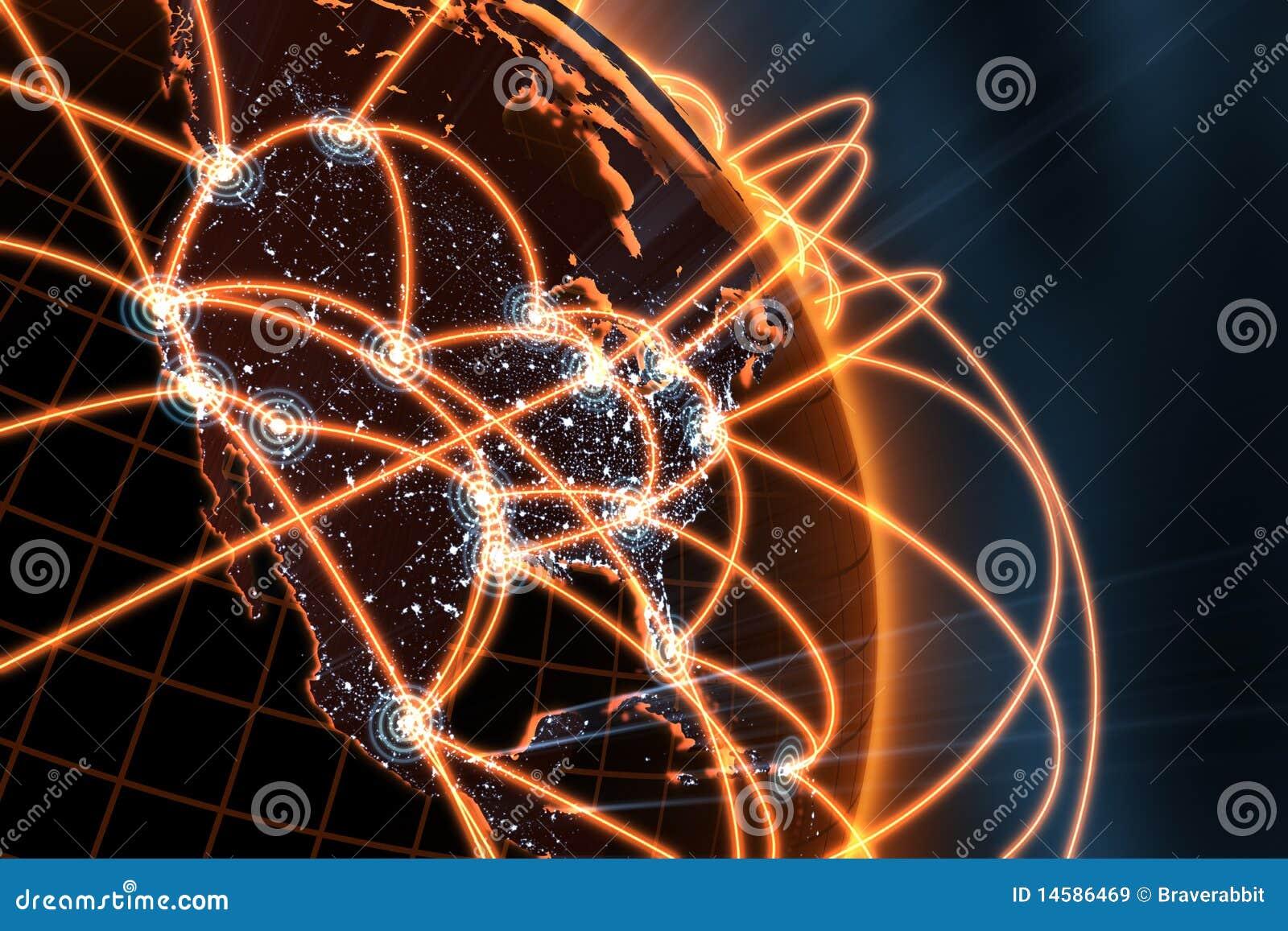 Concepto de la red global
