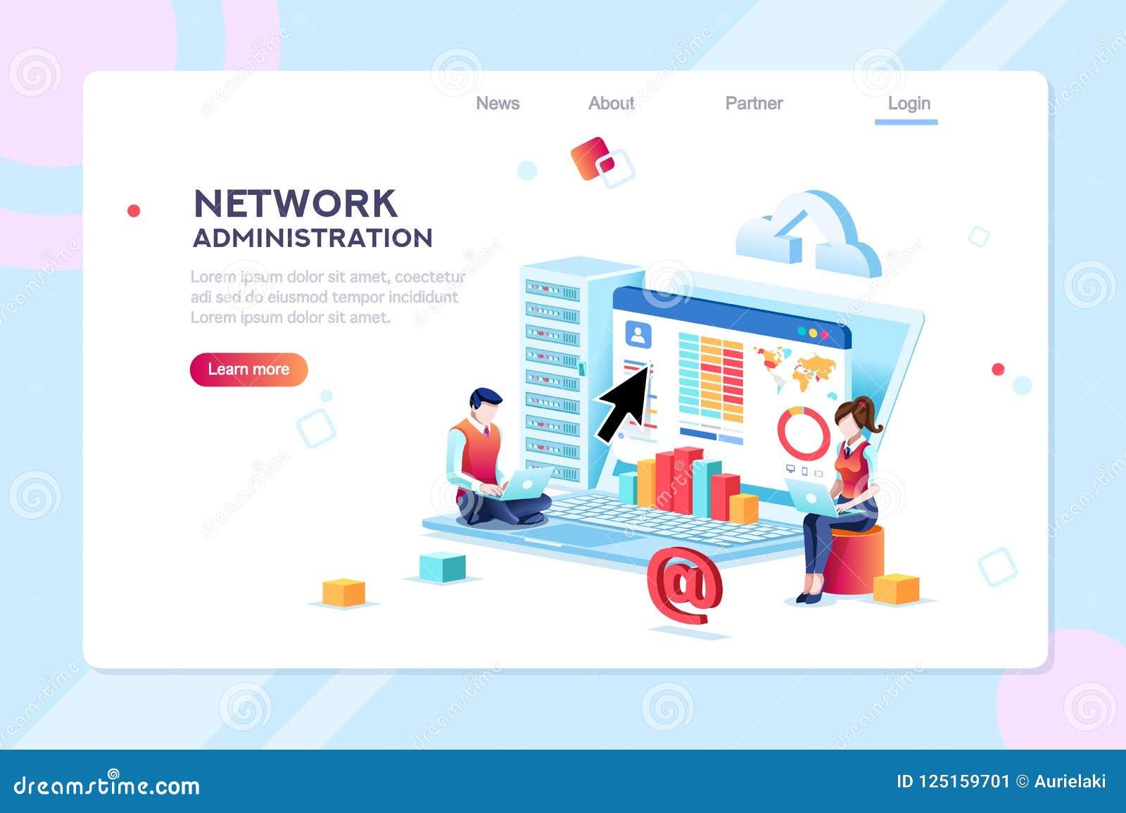 Concepto de la red de información de la administración del centro de datos