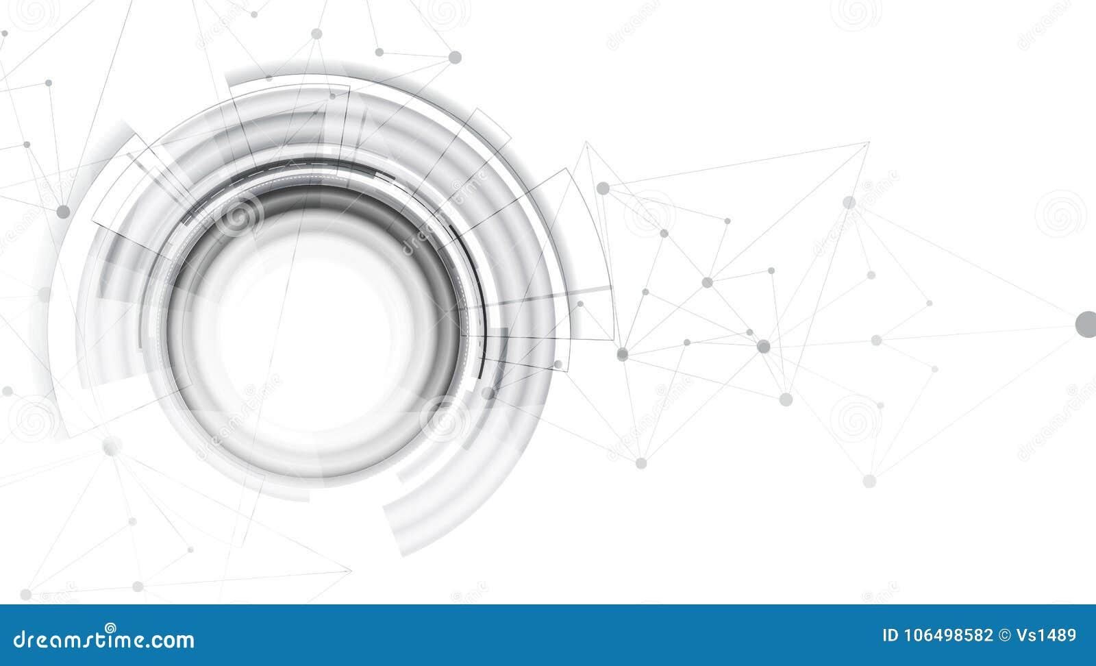 Concepto de la red neuronal Células conectadas con vínculos Alto technol