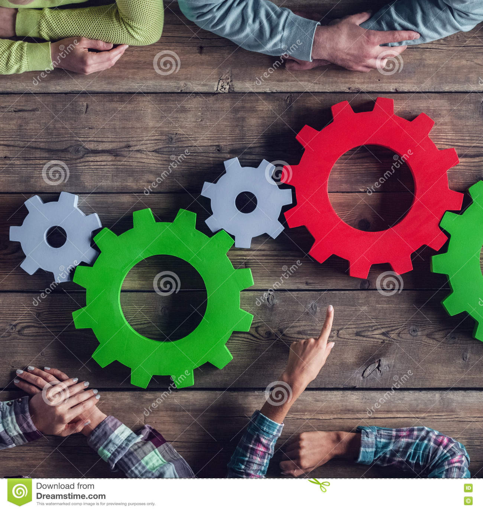 Concepto de la reunión del trabajo en equipo