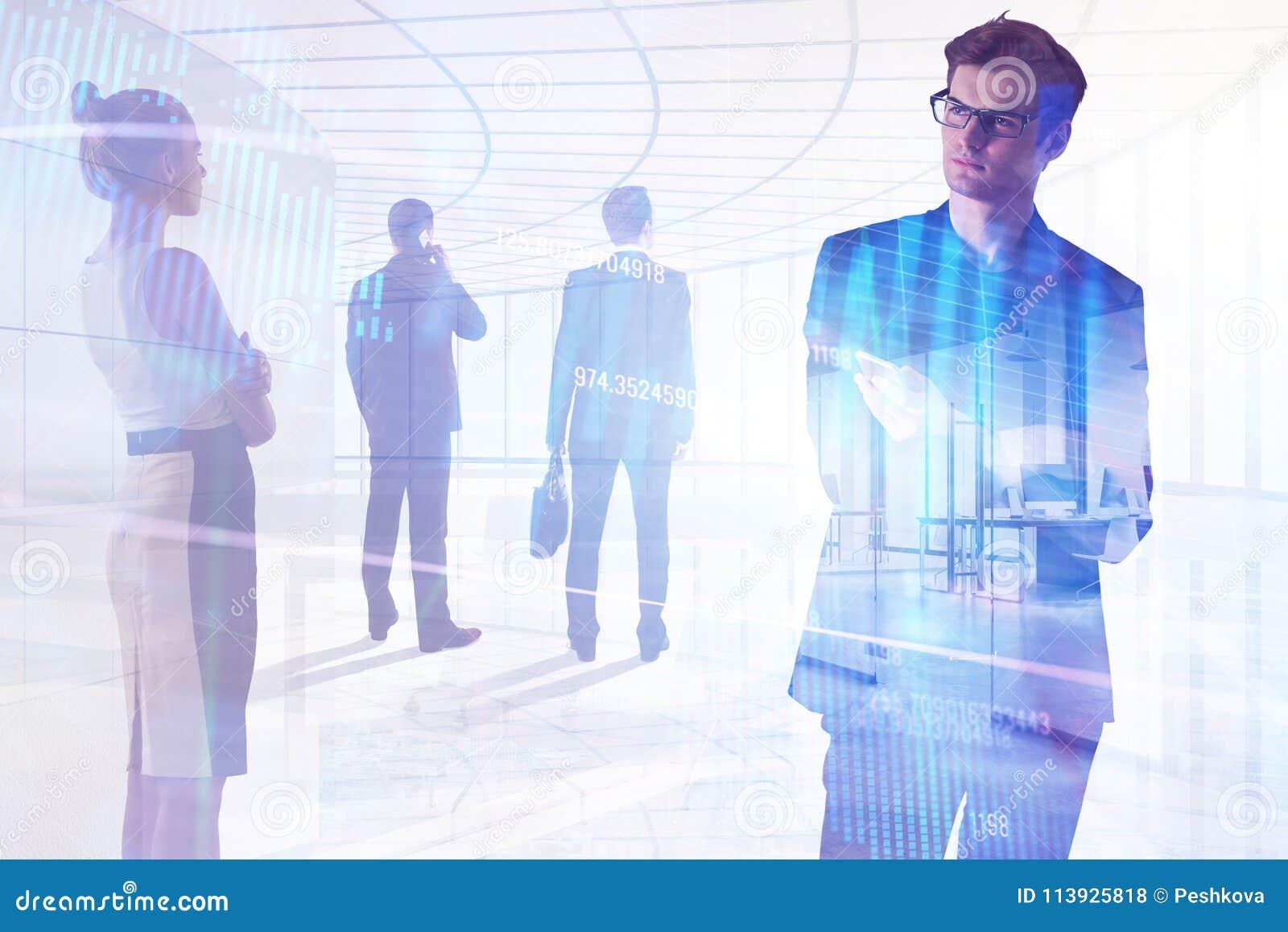 Concepto de la reunión, de la inversión, del trabajo en equipo y de las finanzas