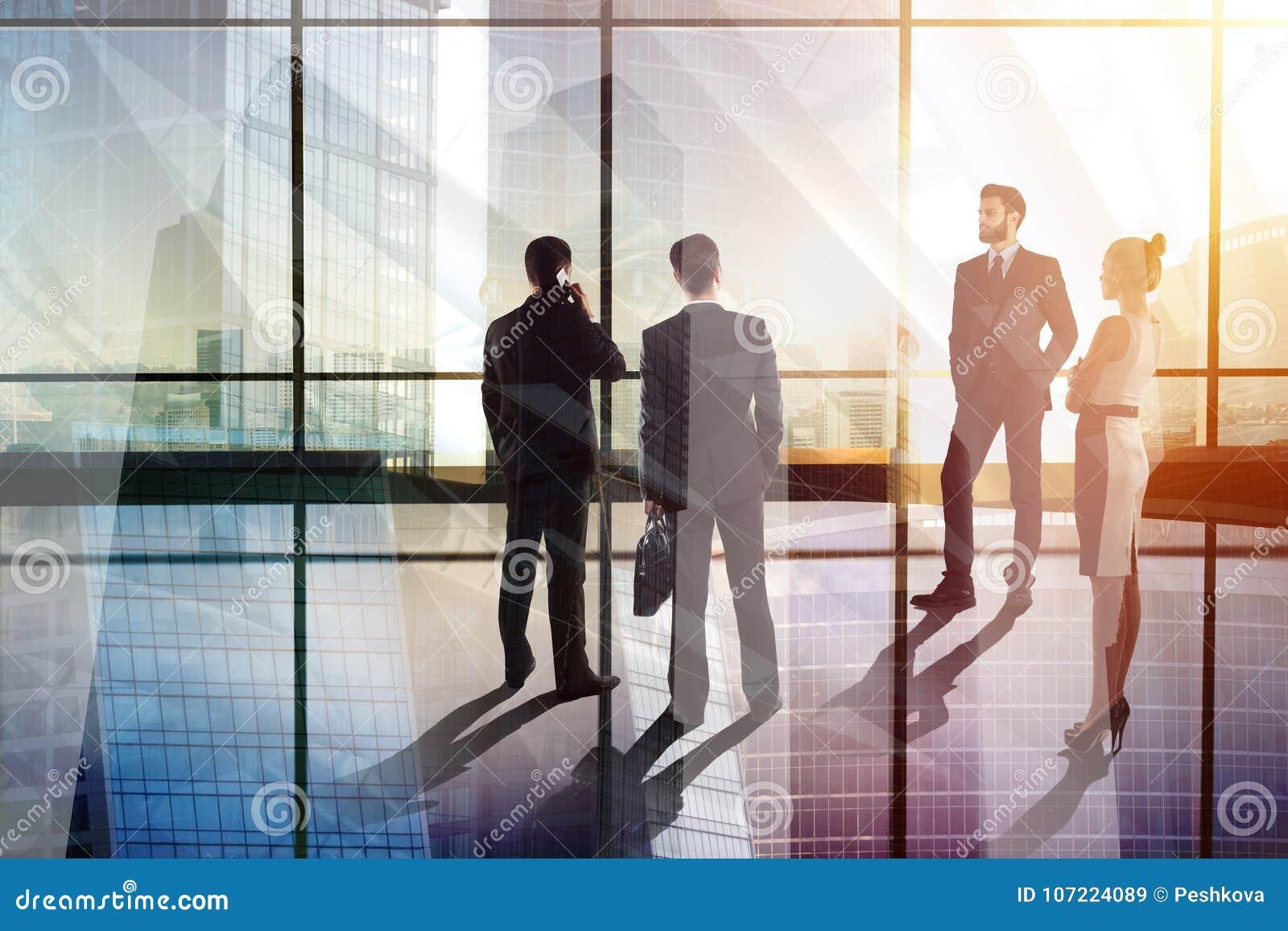 Concepto de la reunión y de la muchedumbre