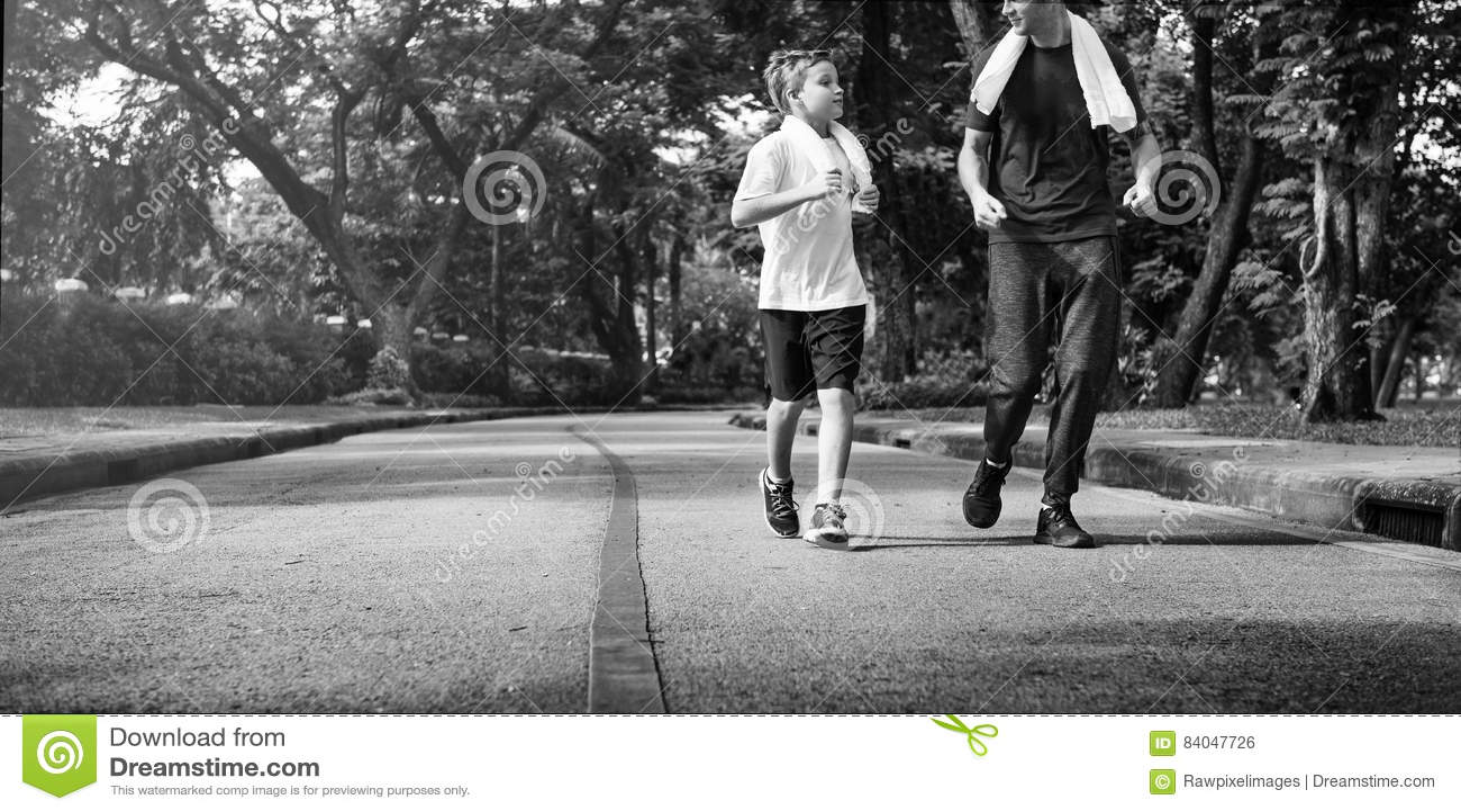 Concepto de la salud de Exercise Jogging Running del instructor