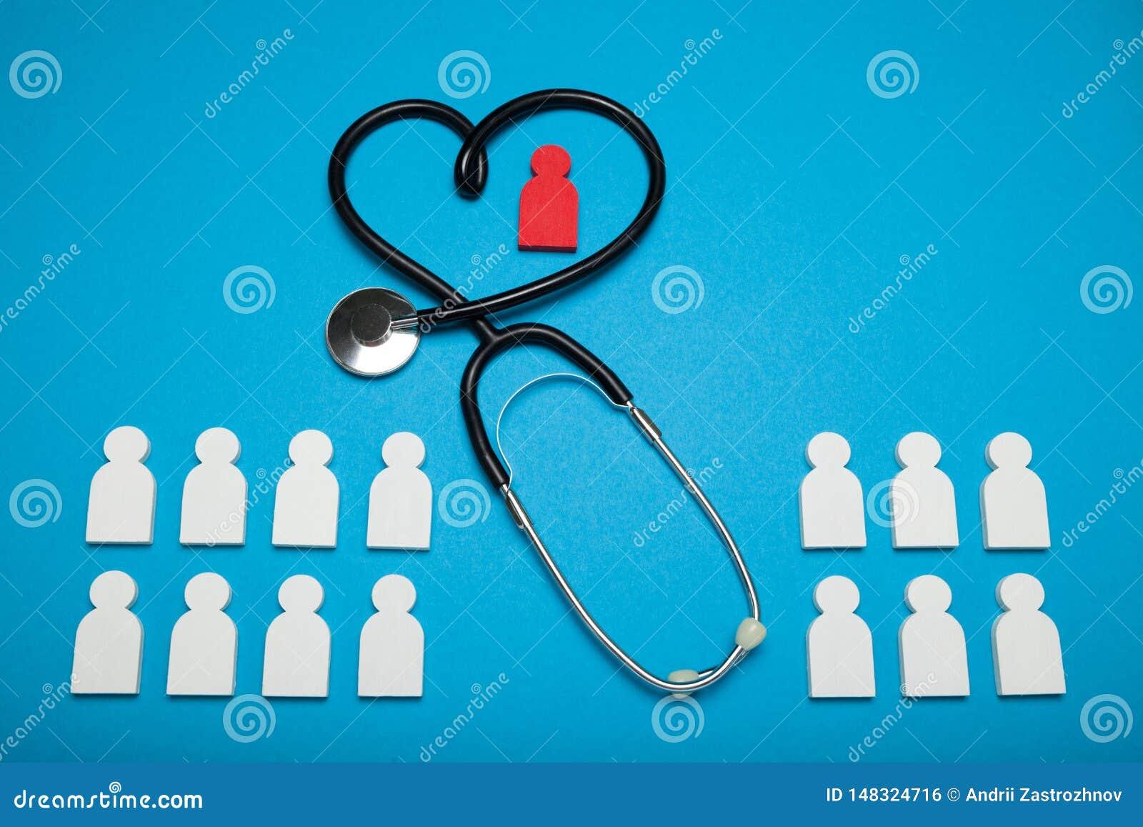Concepto de la salud del corazón, cardiología Paciente m?dico