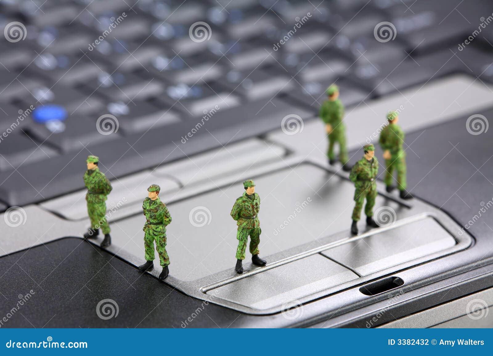 Concepto de la seguridad de datos del ordenador