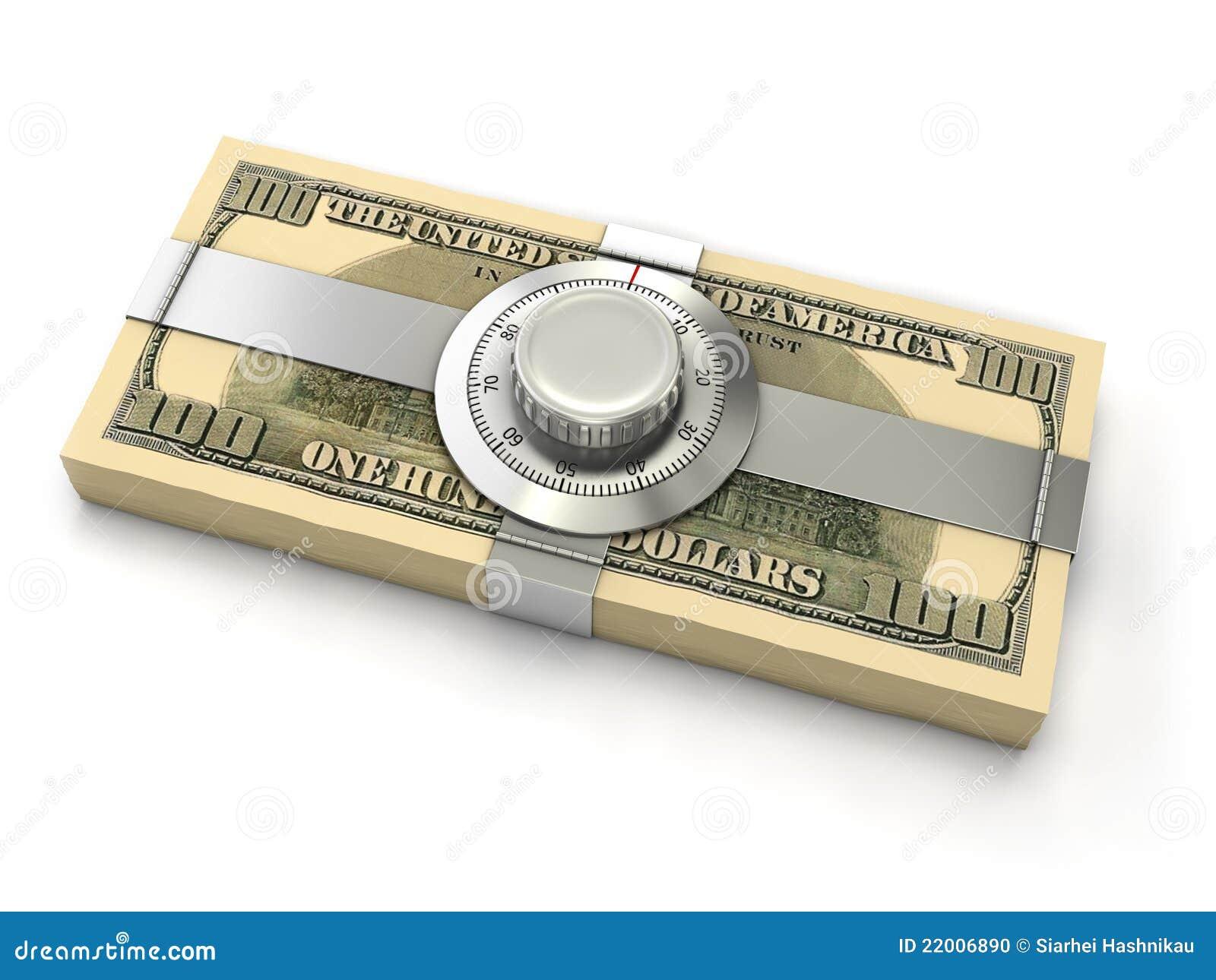 Concepto de la seguridad de las finanzas