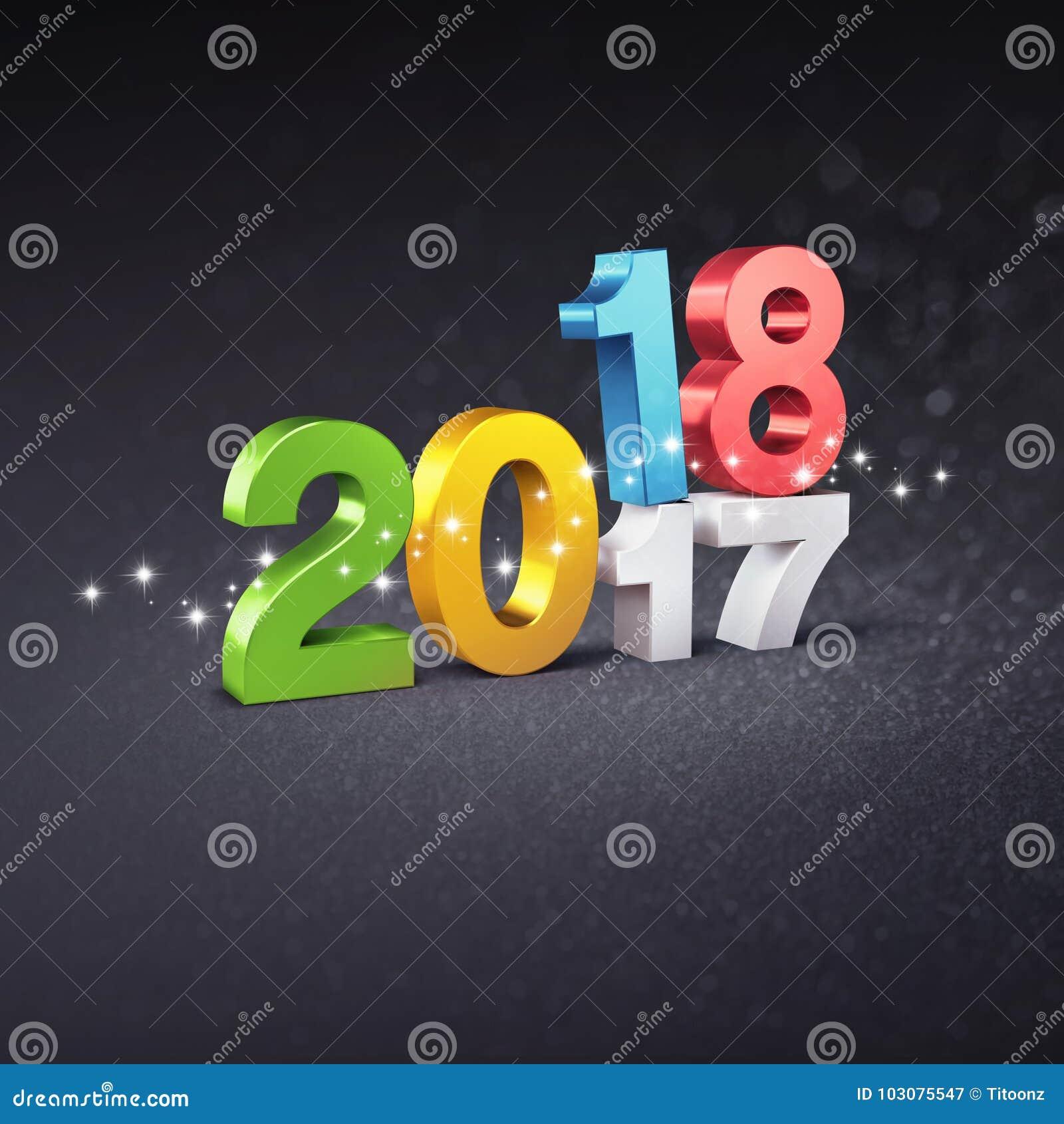 Concepto 2018 de la tarjeta de felicitación
