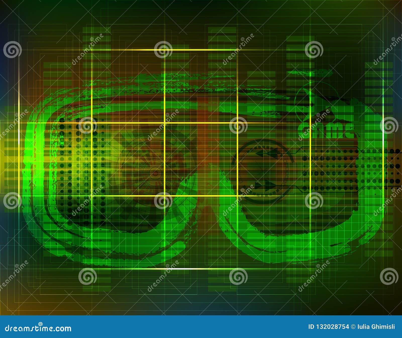 Concepto de la tecnología con Hud, Gui Design Elements Cabeza-para arriba Displa