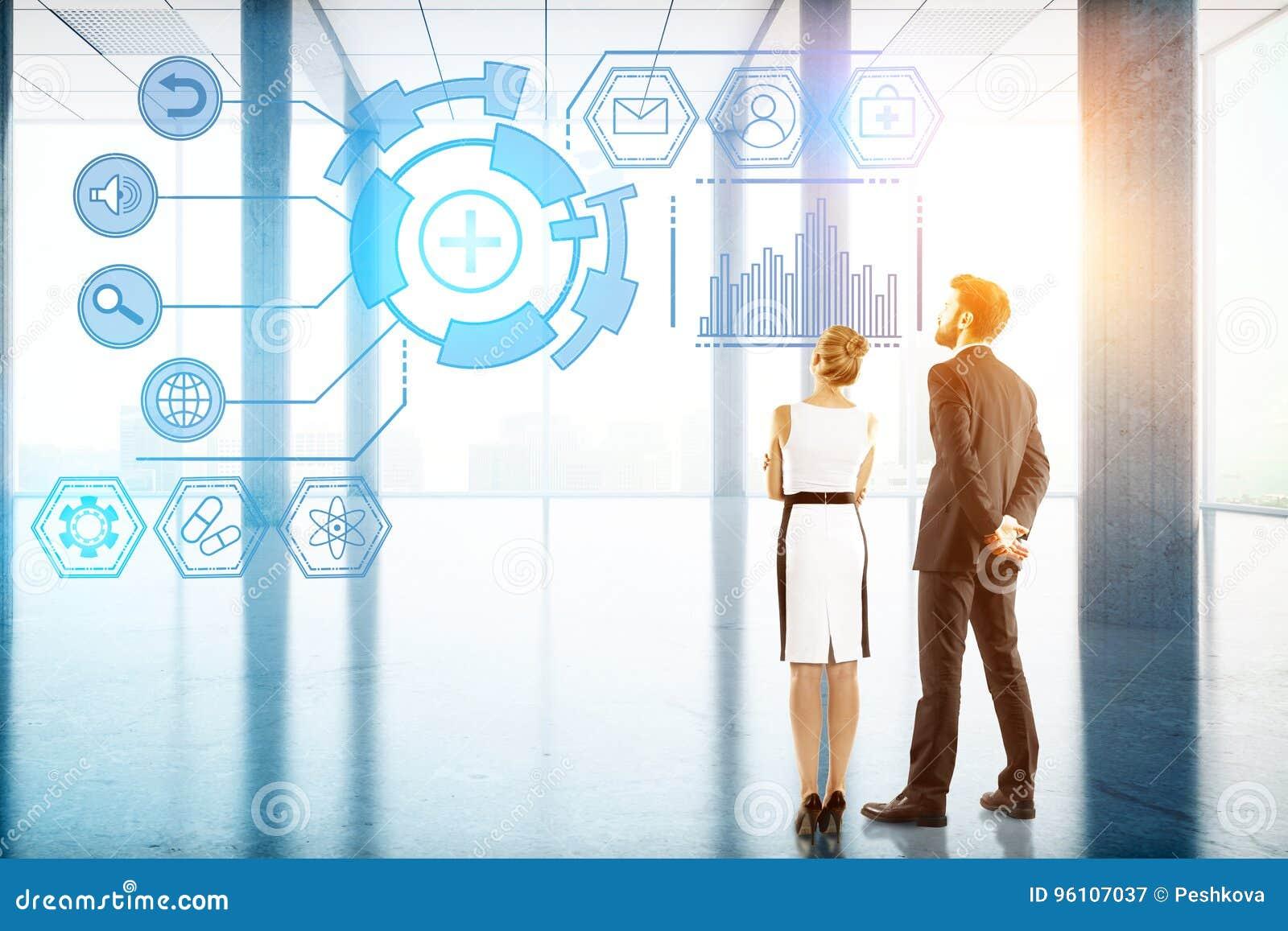 Concepto de la tecnología, del futuro, de la innovación y de la comunicación