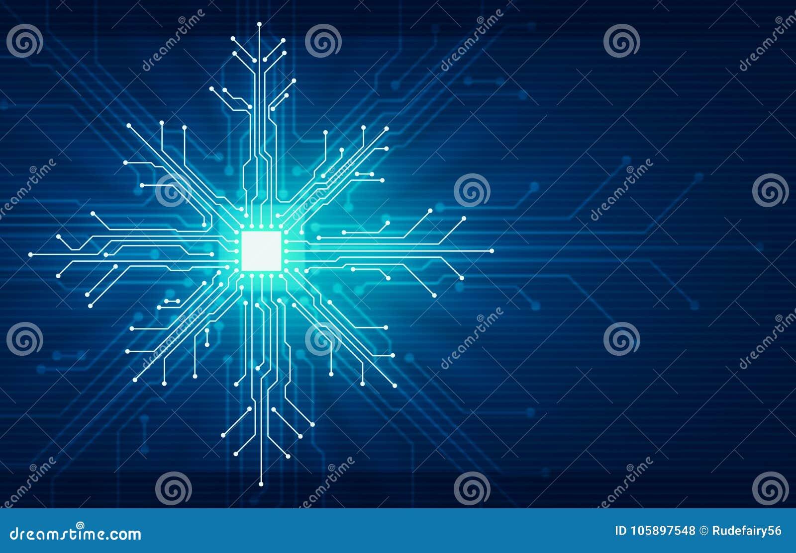 Concepto de la tecnología de la Navidad del Año Nuevo de Showflake
