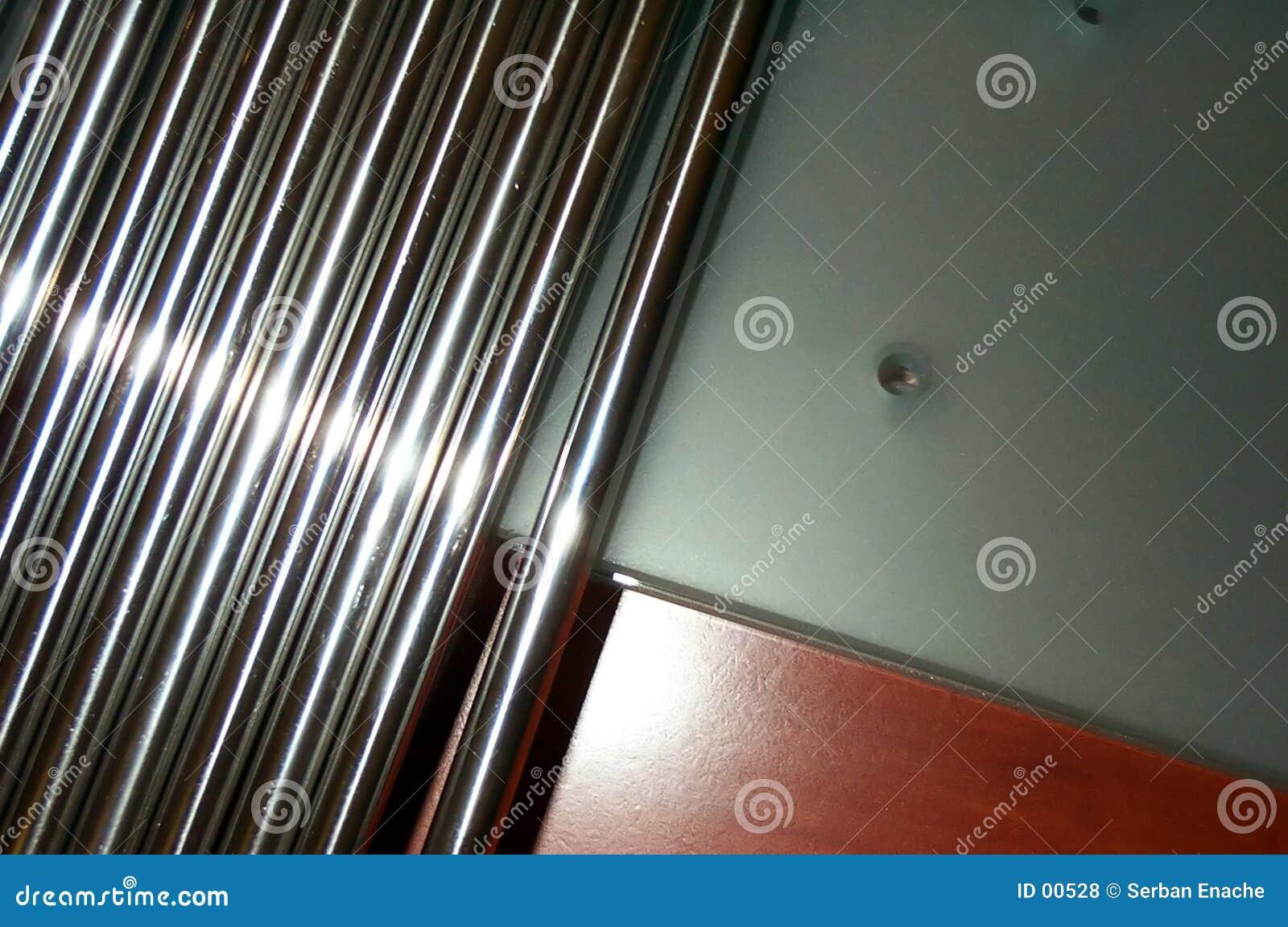 Concepto de las barras de acero